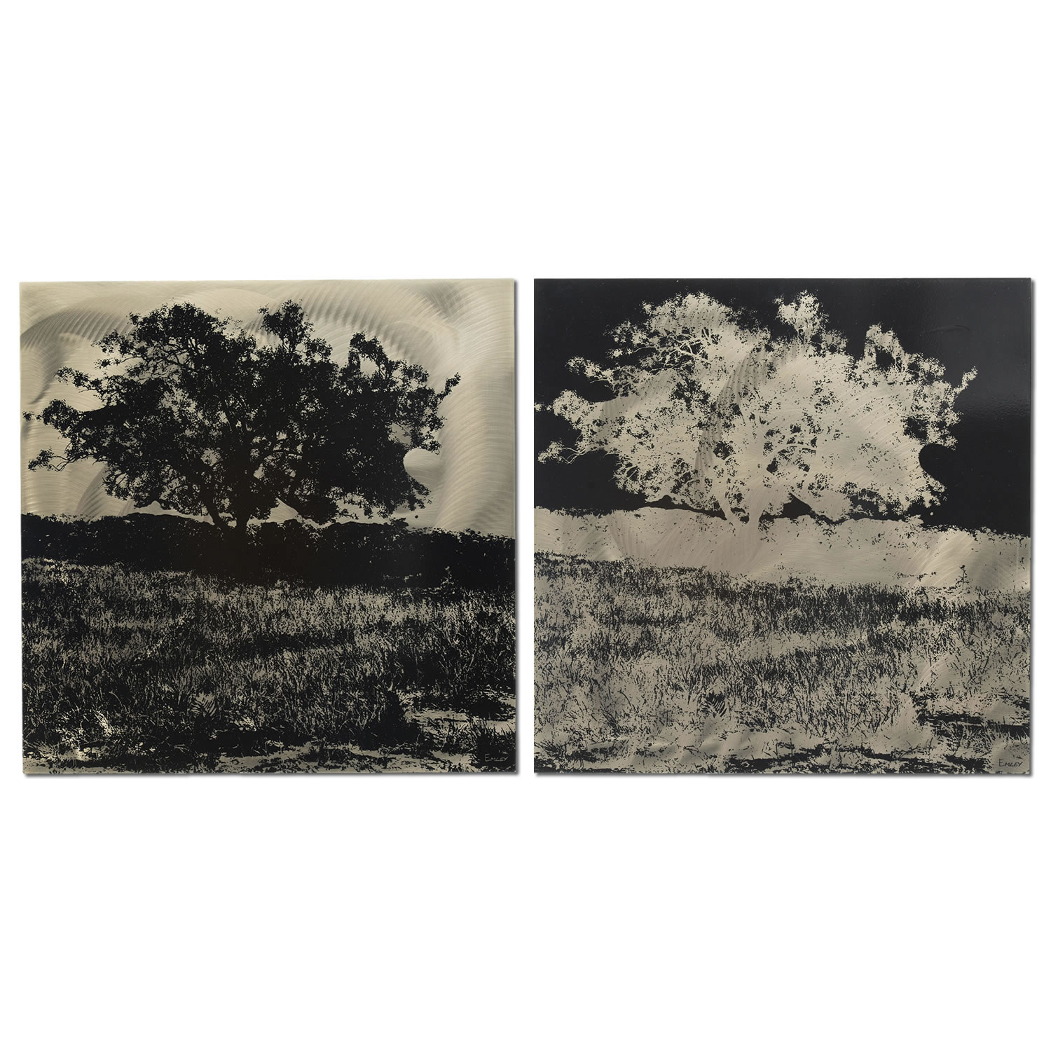 Trees - 2-panel Tree Negative & Silhouette Art