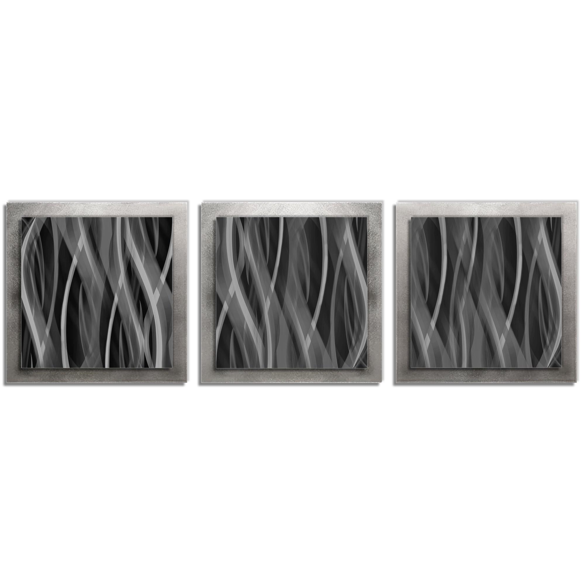 Pewter Essence - Layered Modern Metal Wall Art