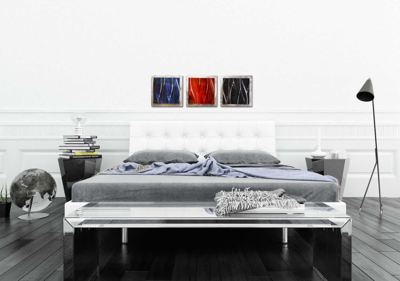 Dark Essence - Layered Modern Metal Wall Art - Lifestyle Image