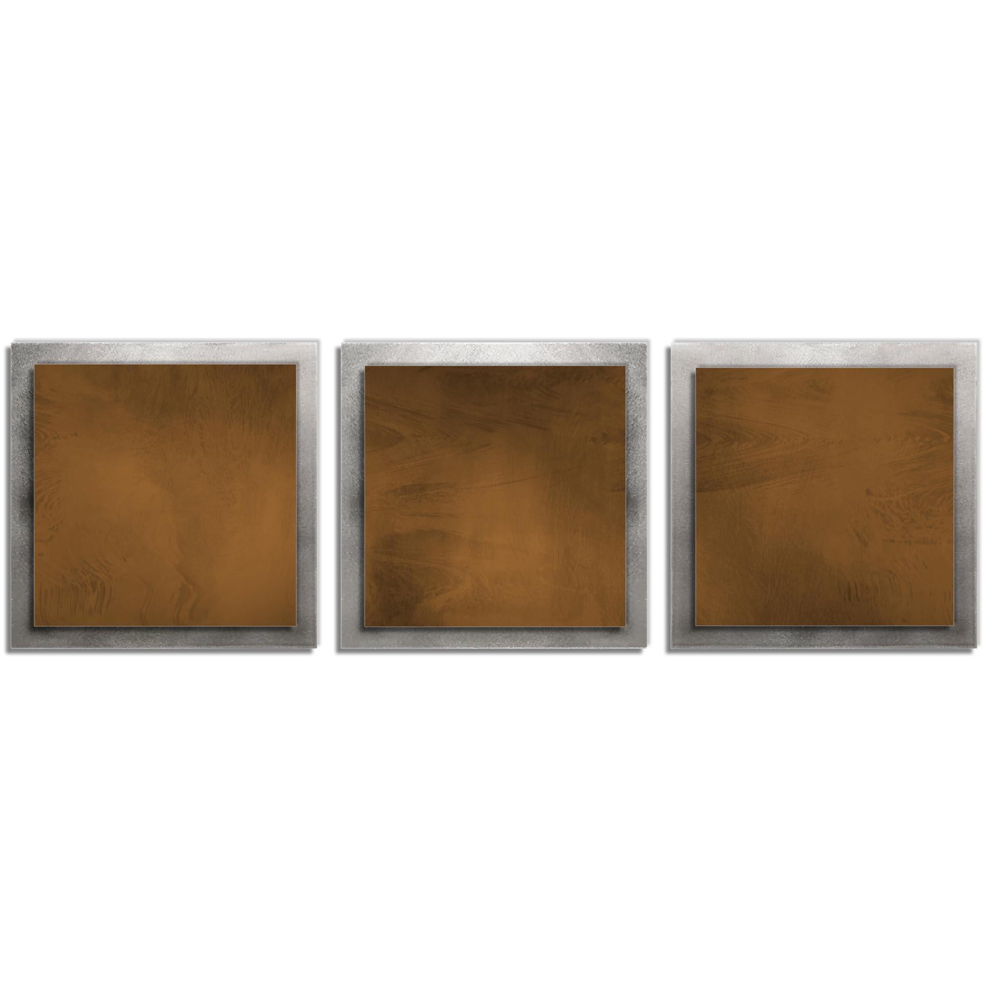 Brown Essence - Layered Modern Metal Wall Art