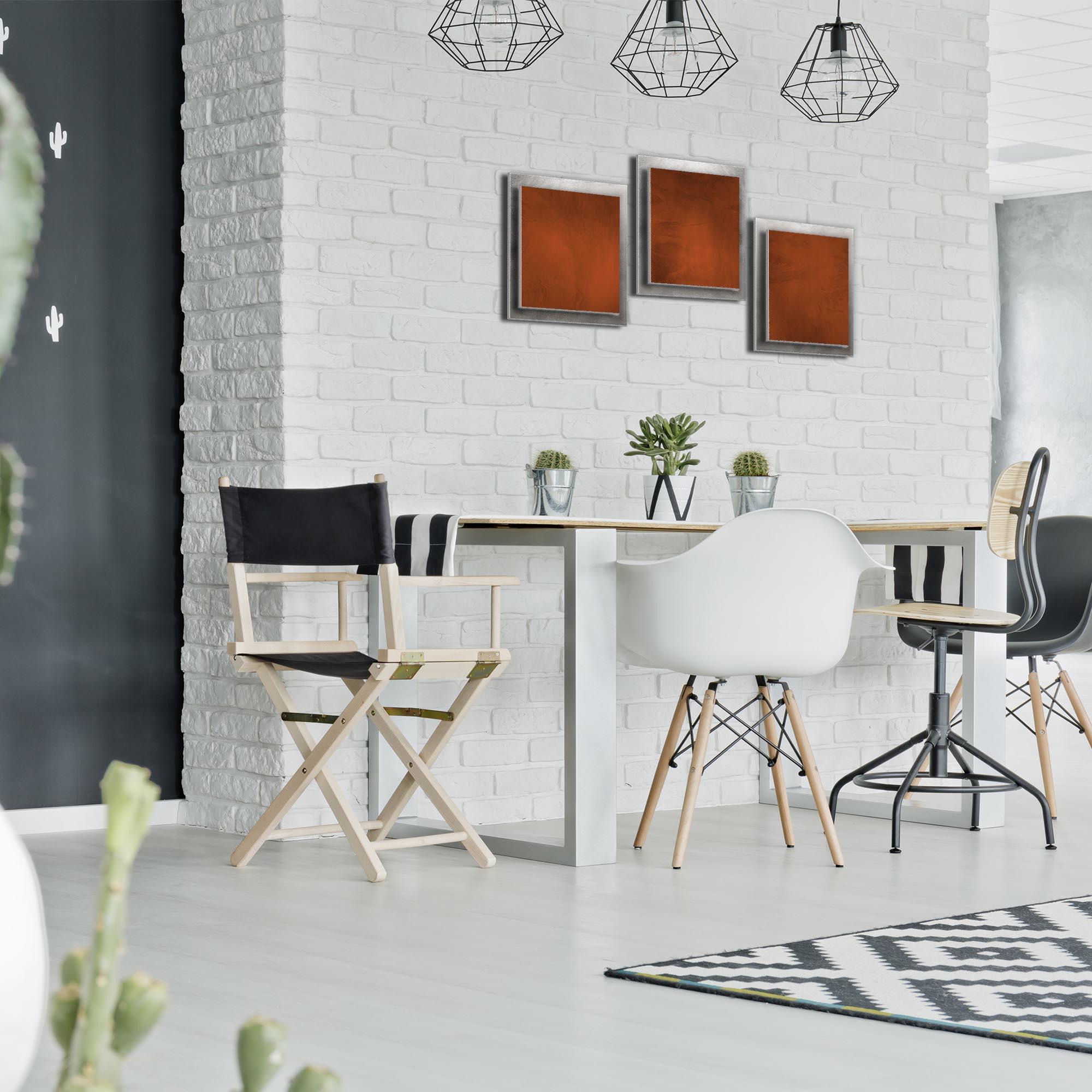 Rusty Essence - Layered Modern Metal Wall Art - Lifestyle Image