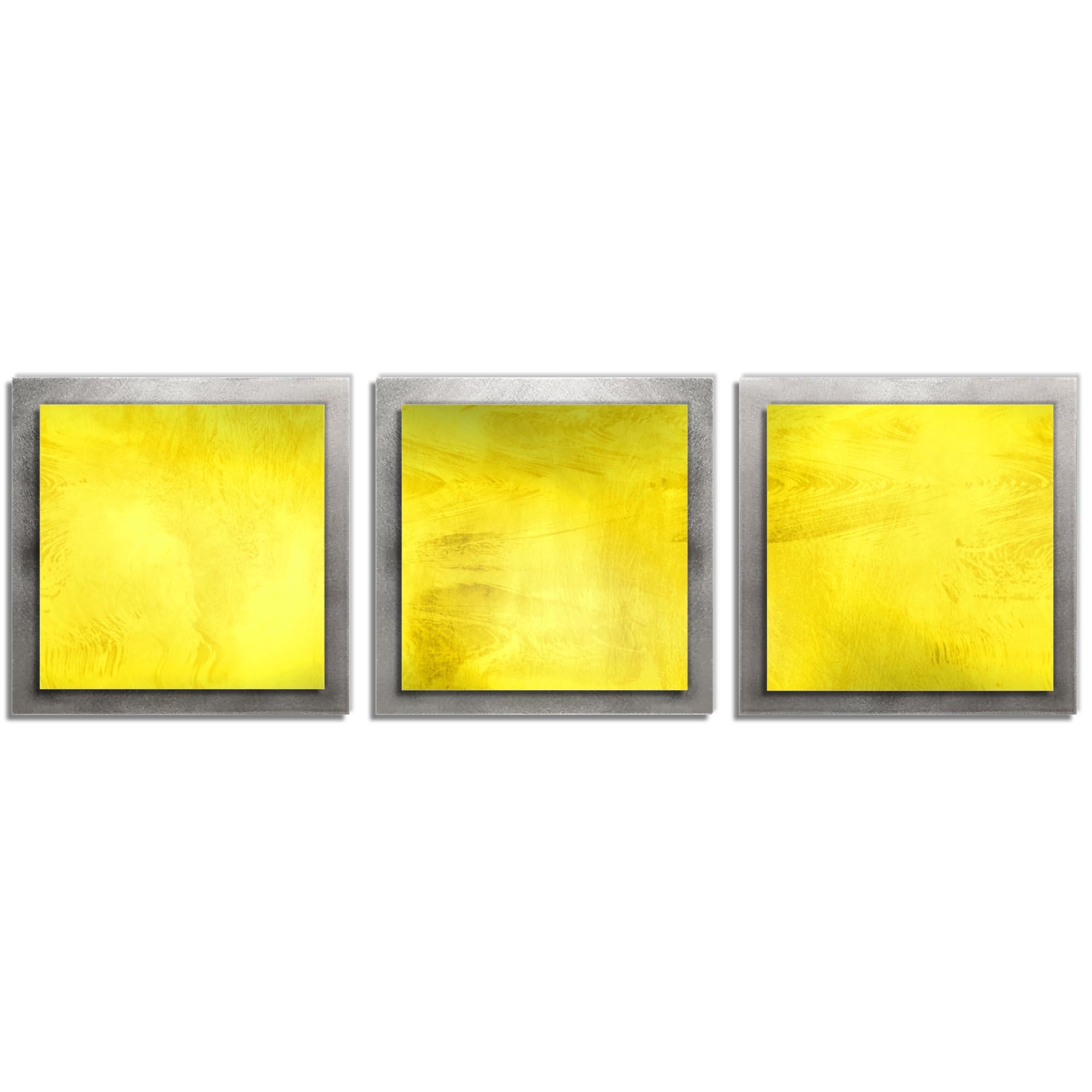 Yellow Essence - Layered Modern Metal Wall Art
