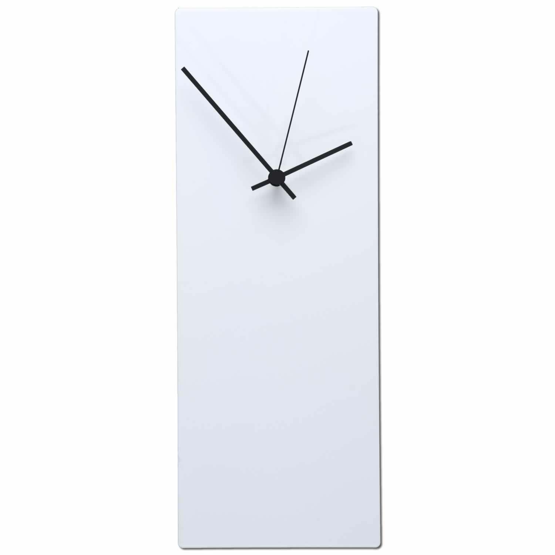 Whiteout Black Wall Clock: Minimalist Modern Clock