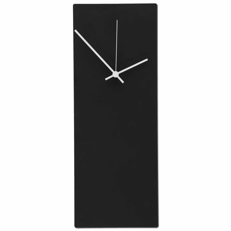 Blackout White Wall Clock: Minimalist Modern Clock