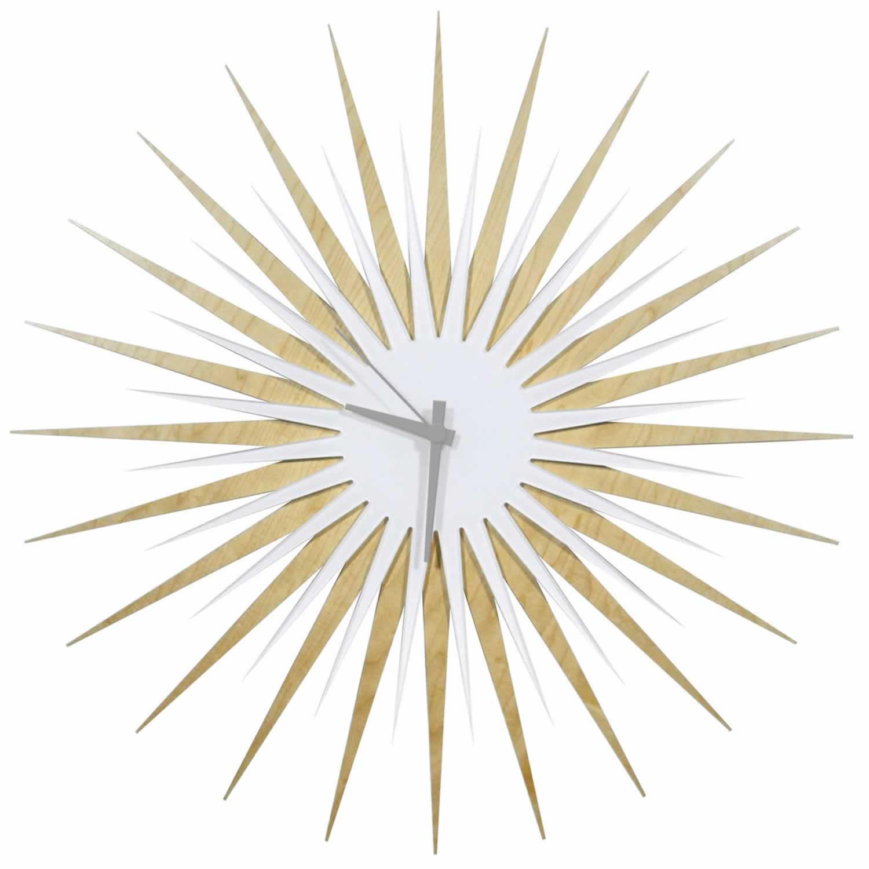 RF Atomic Clock - Maple White/Grey Starburst