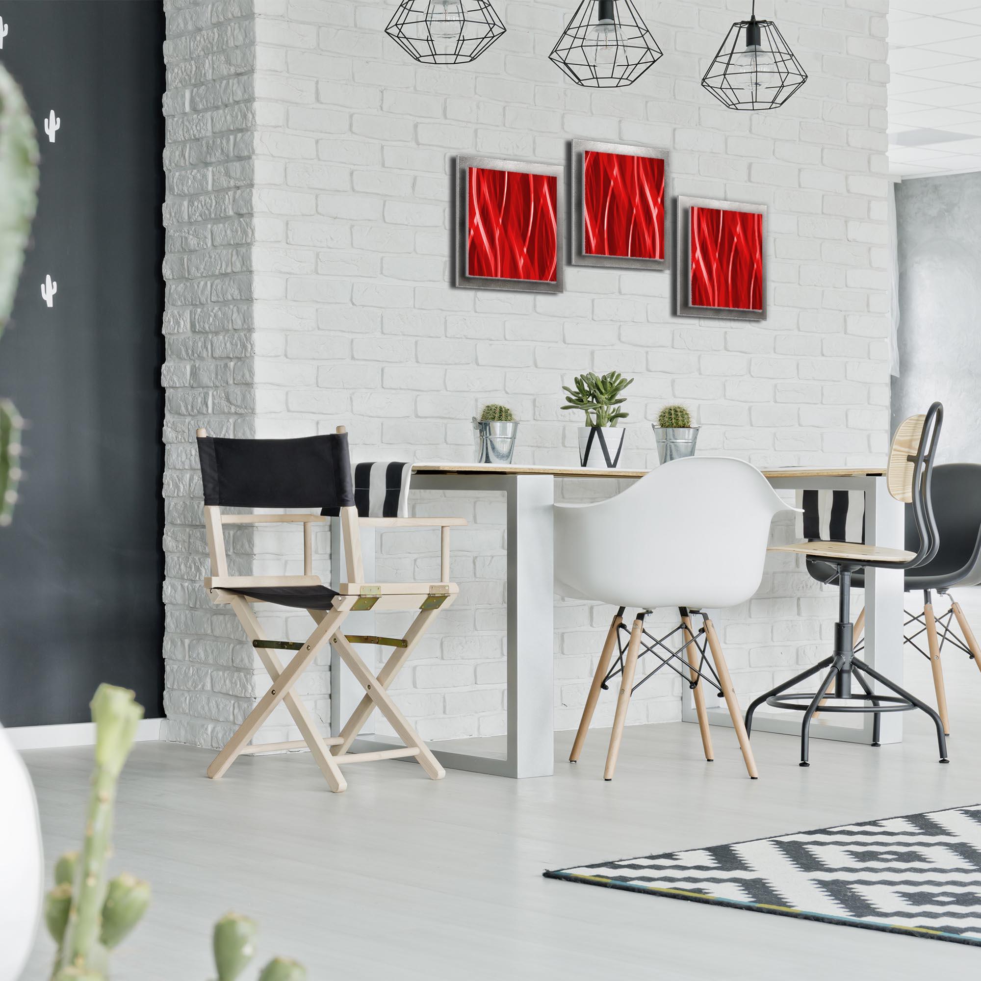 Cherry Essence - Layered Modern Metal Wall Art - Lifestyle Image