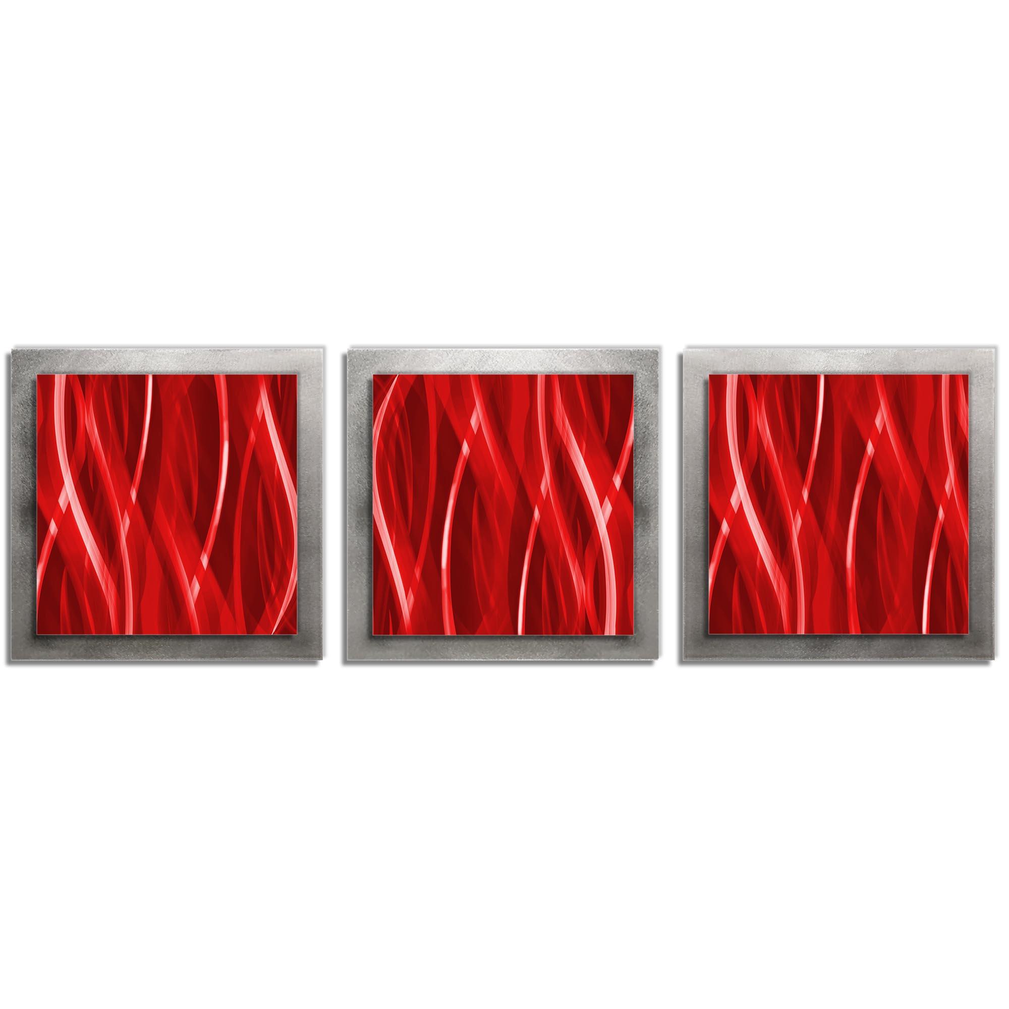Cherry Essence - Layered Modern Metal Wall Art