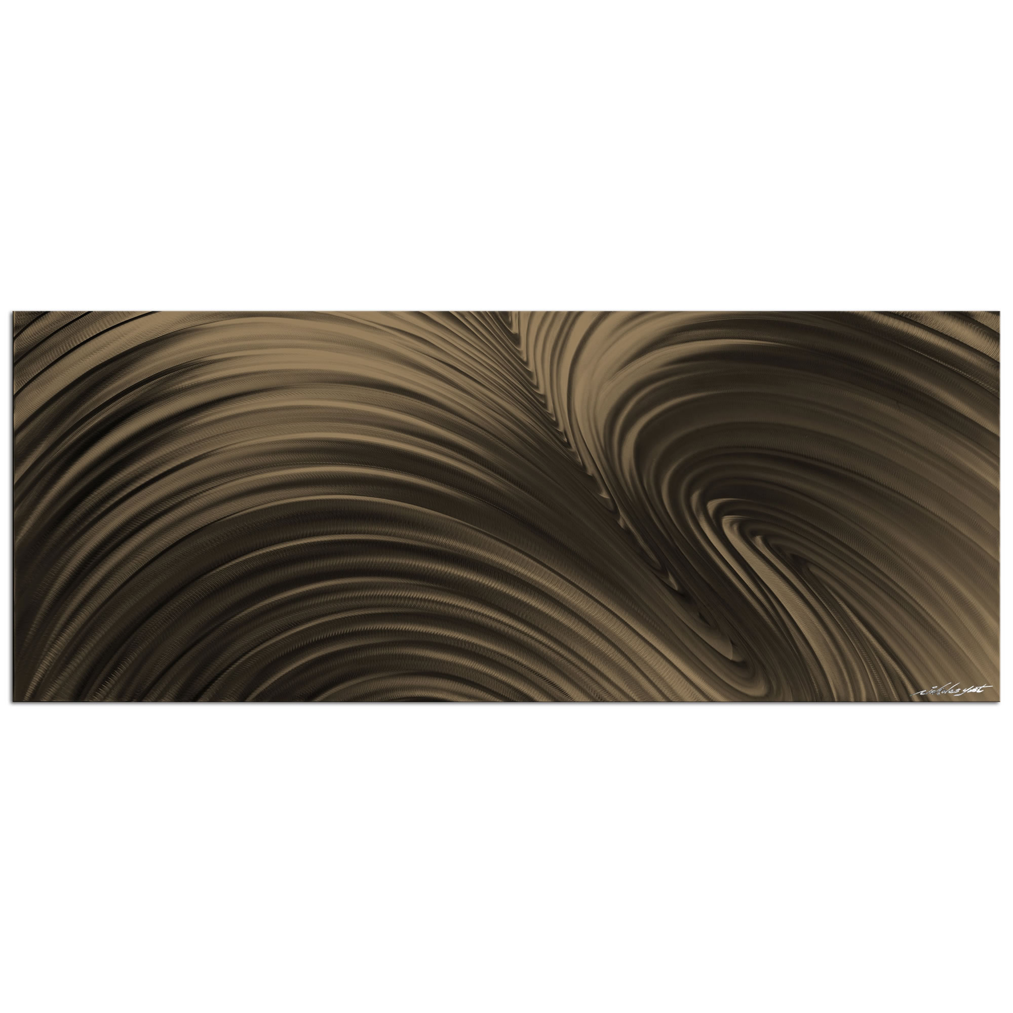 Fusion bronze contemporary metal wall art