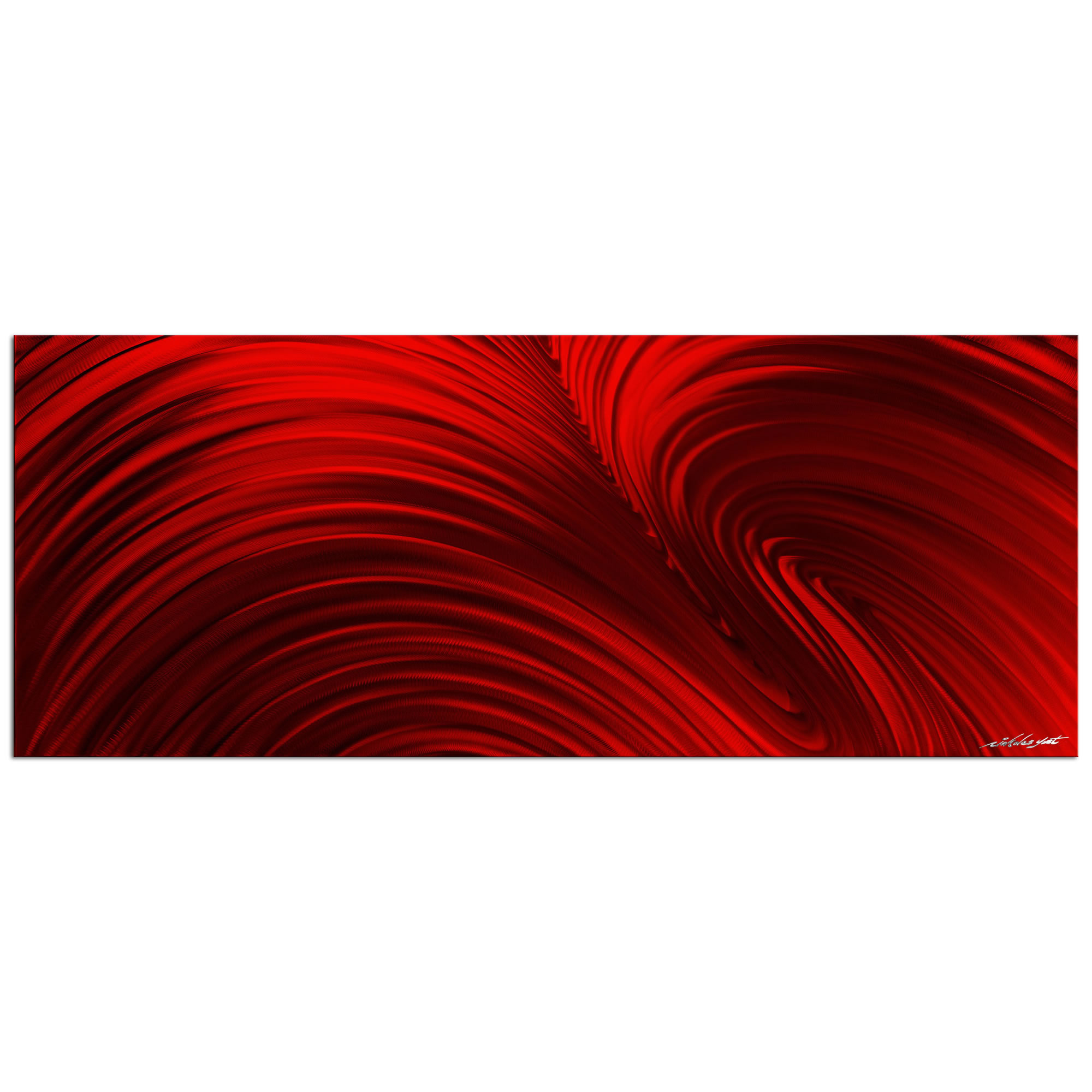 Fusion Red - Contemporary Metal Wall Art