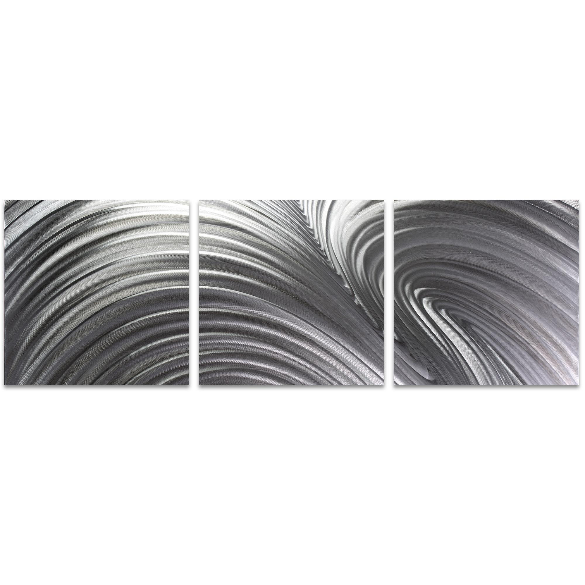 Fusion Triptych 38x12in. Metal or Acrylic Contemporary Decor