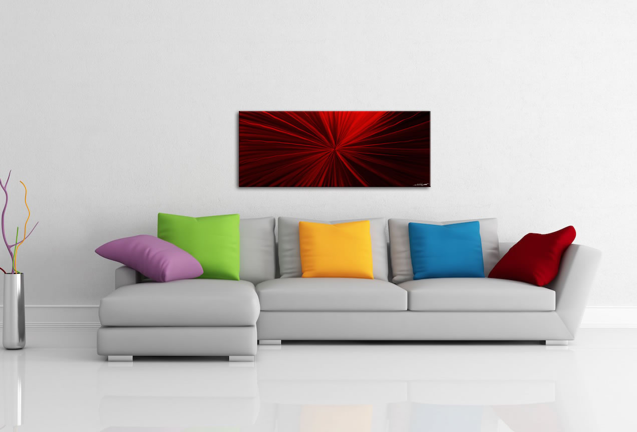 Tantalum Red - Contemporary Metal Wall Art - Lifestyle Image