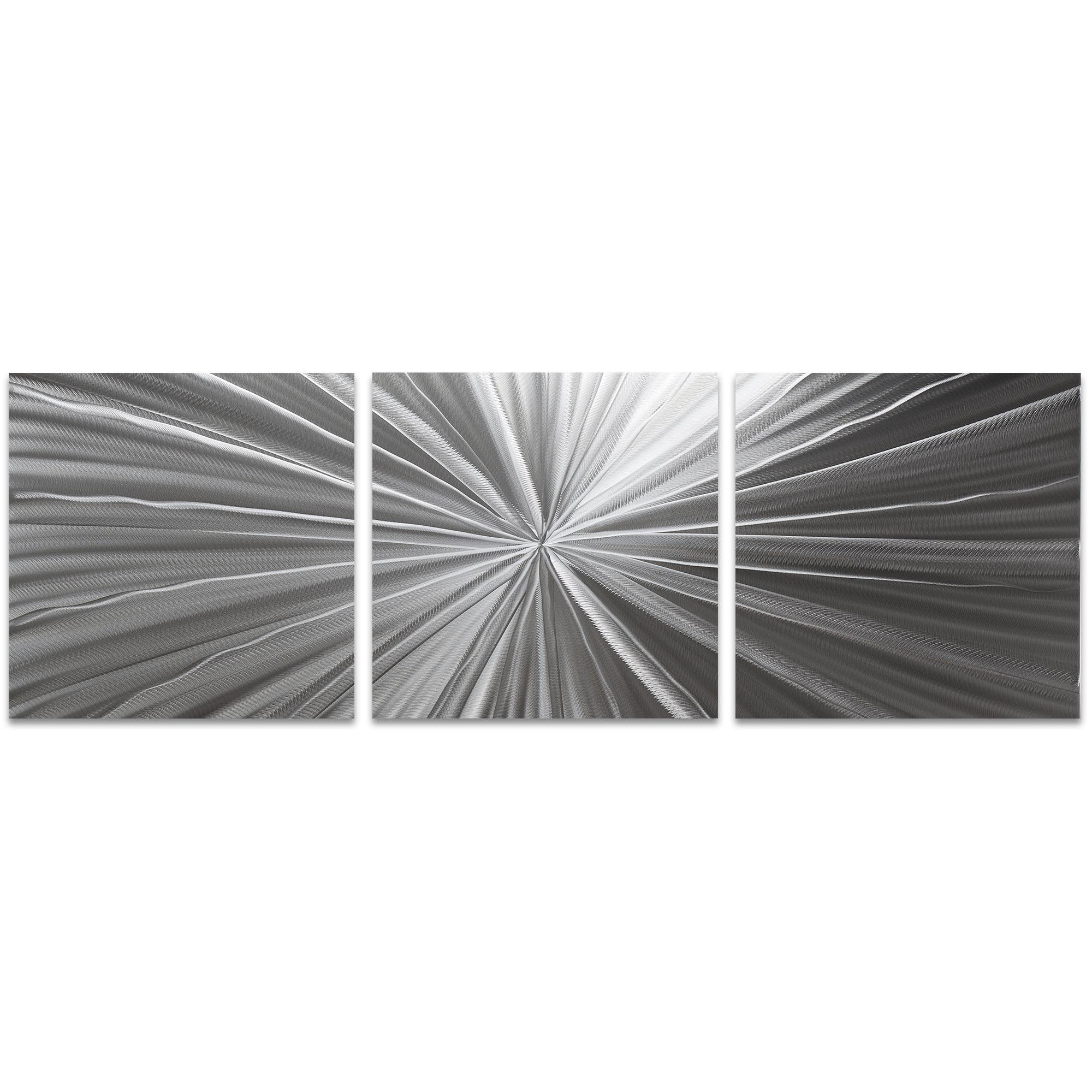 Tantalum Triptych Large 70x22in. Metal or Acrylic Contemporary Decor
