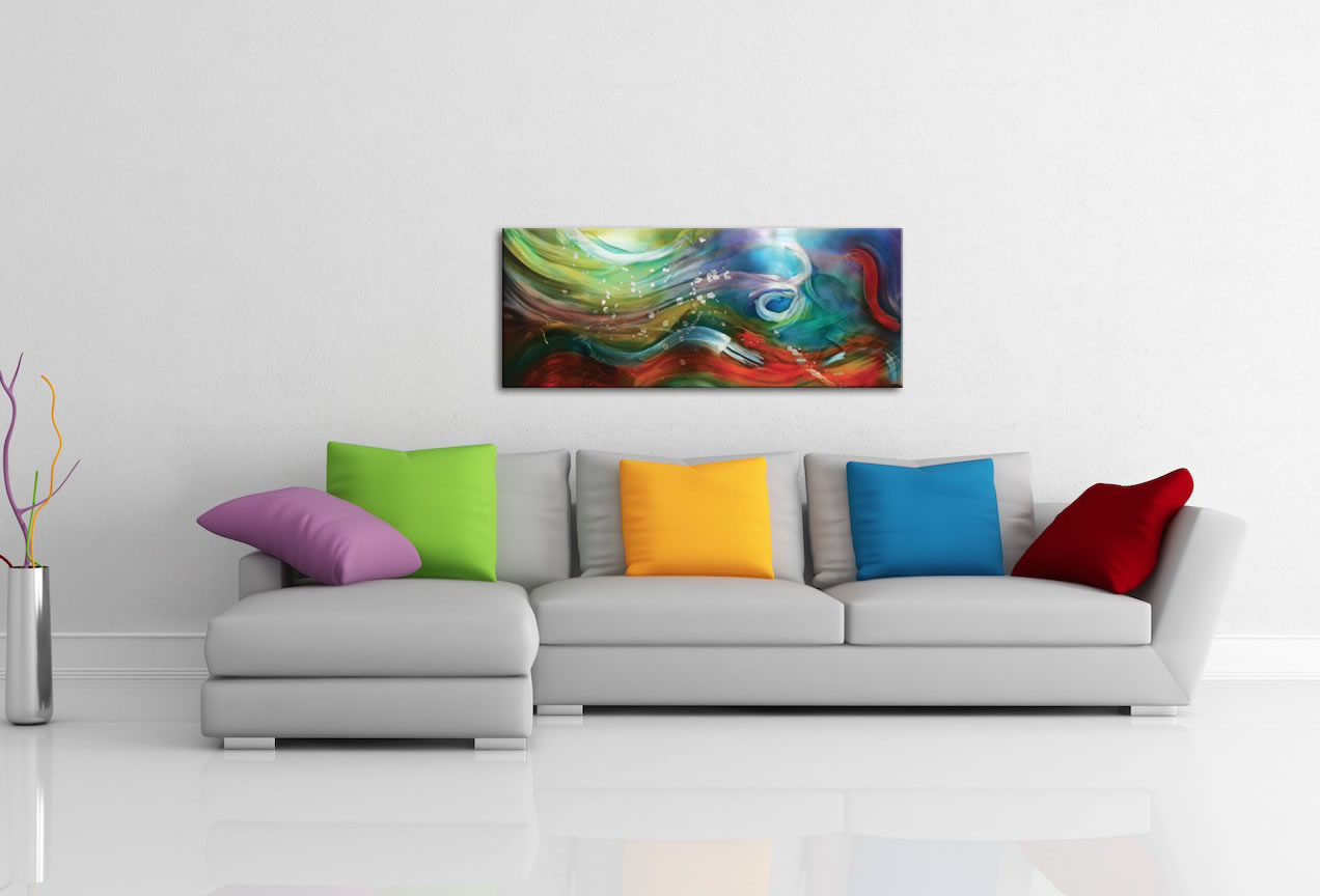 Esne Composition - Colorful Abstract Water Art - Lifestyle Image