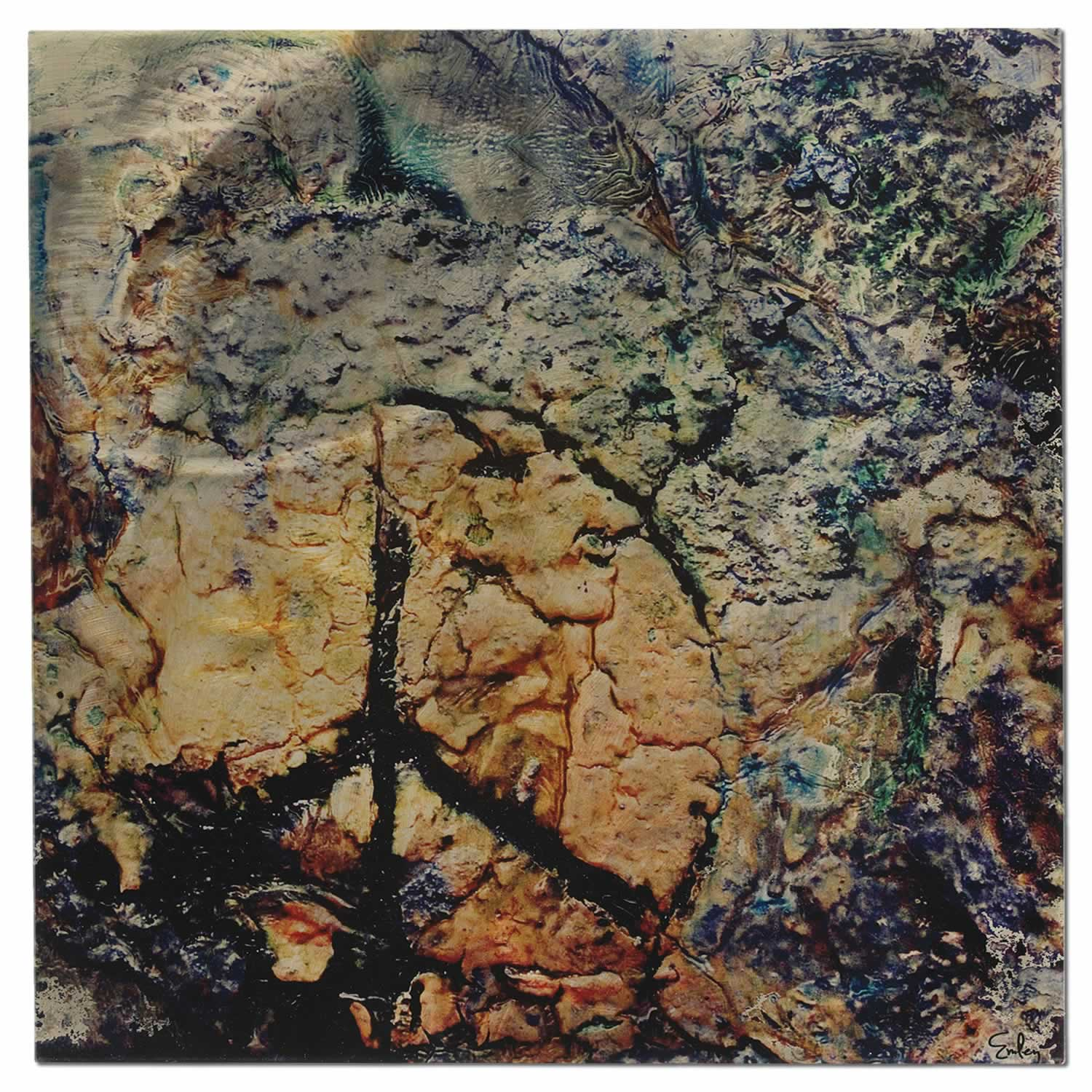 Peace - Faux Texture Abstract Metal Wall Art
