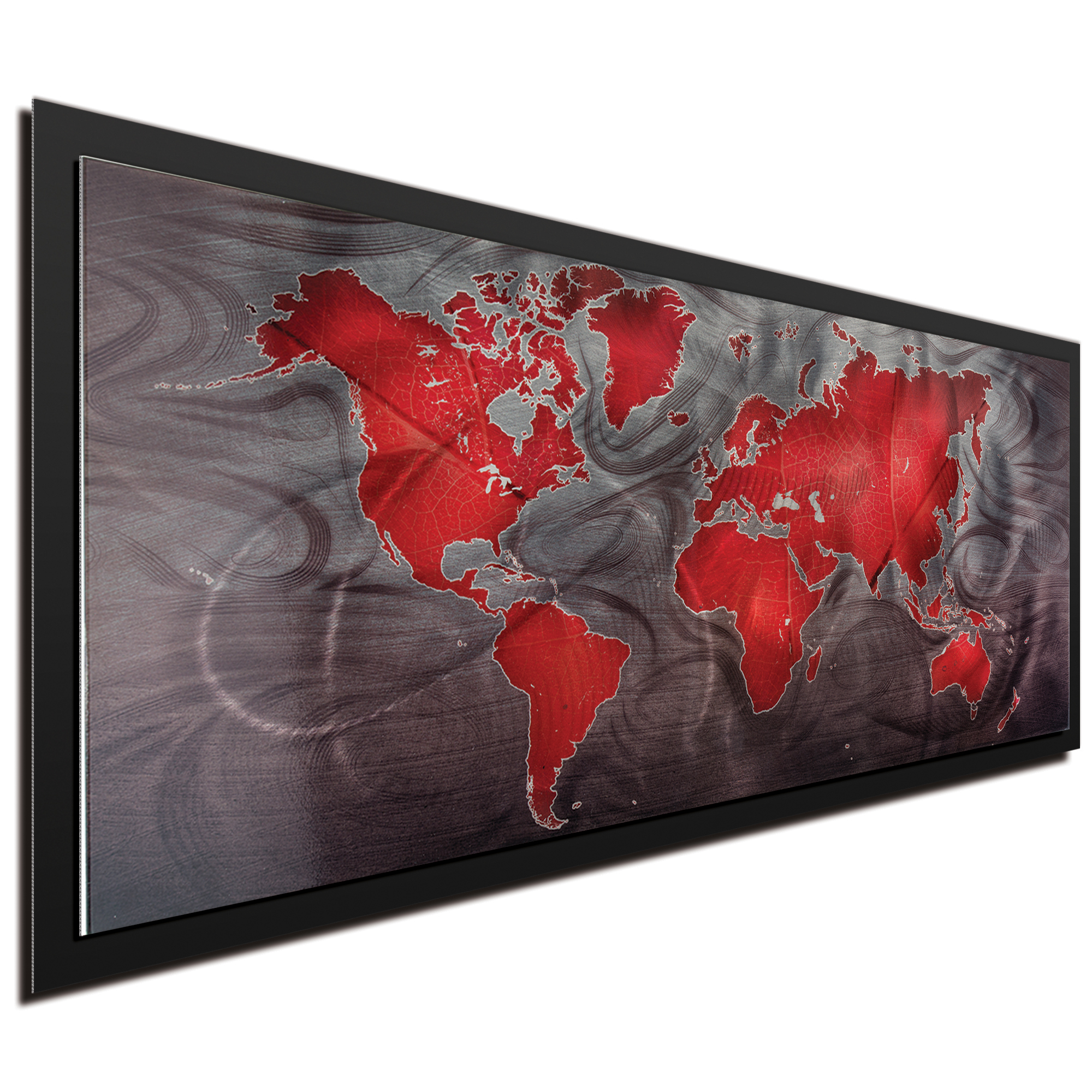 Red Pewter Land and Sea Framed - Image 2
