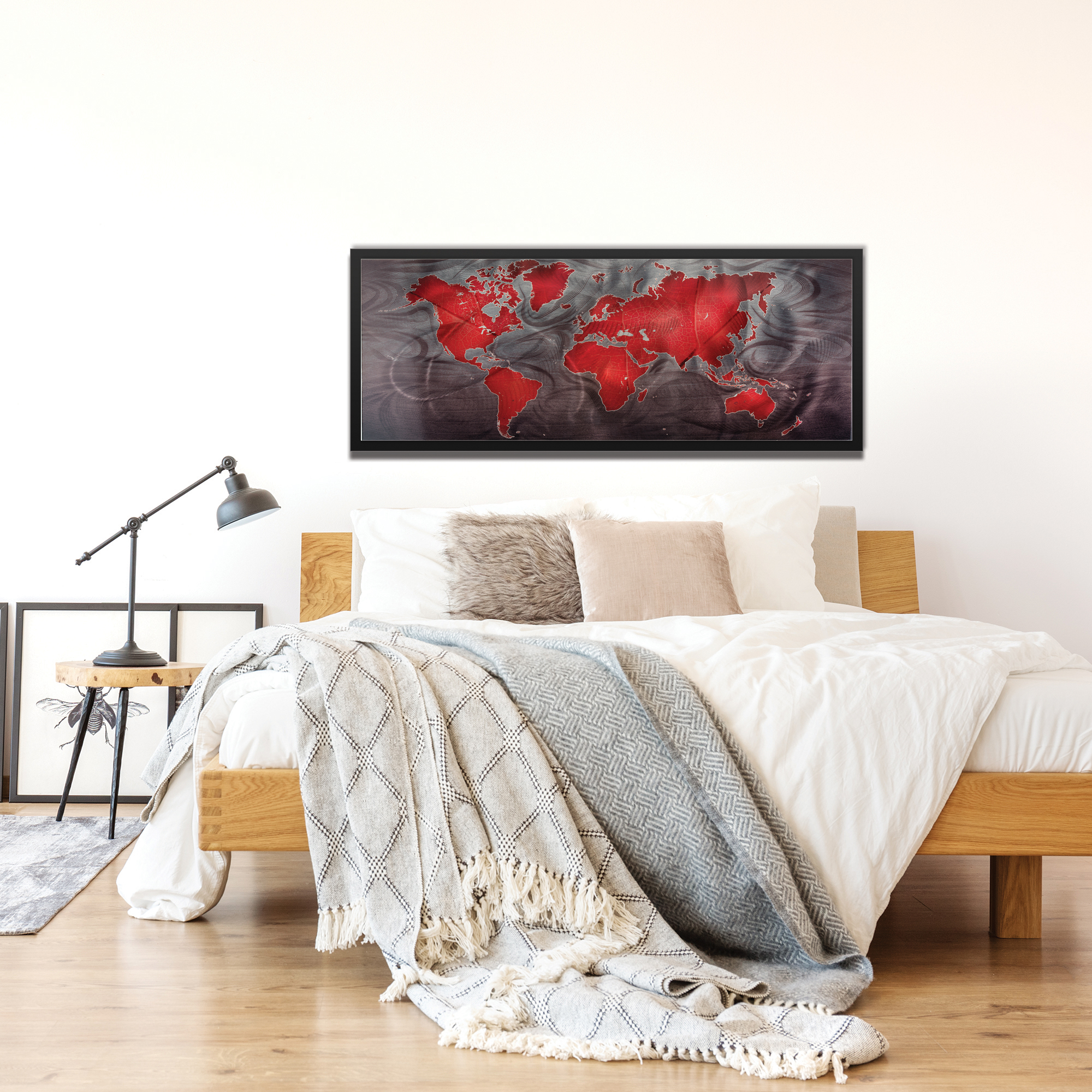 Red Pewter Land and Sea Framed - Lifestyle View
