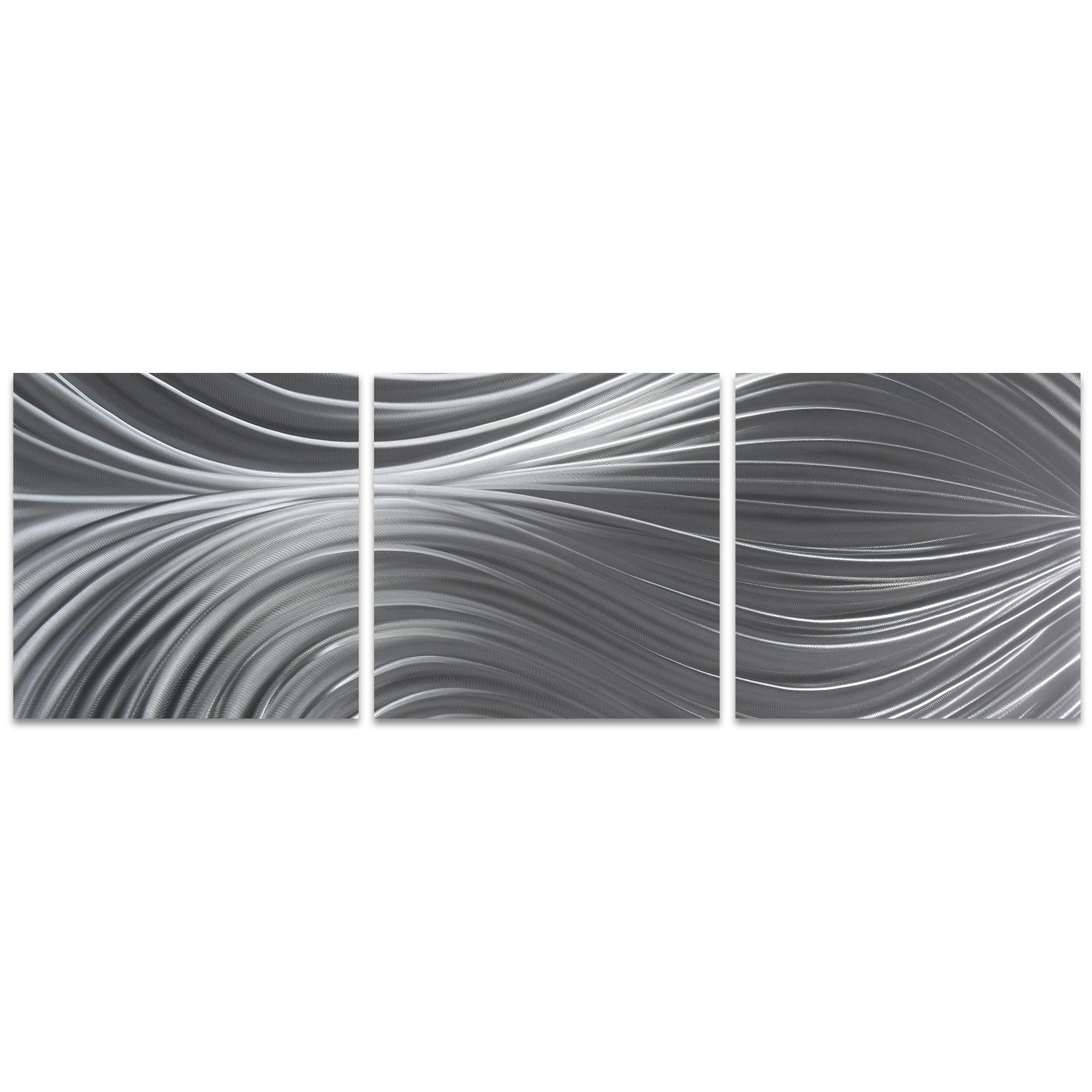 Passing Currents Triptych 38x12in. Metal or Acrylic Contemporary Decor