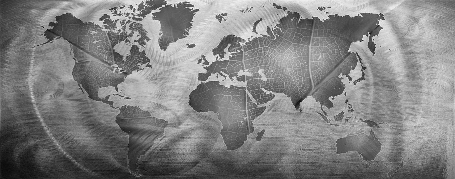 Monochrome Land & Sea - Modern Metal Wall Art - Alternate Image