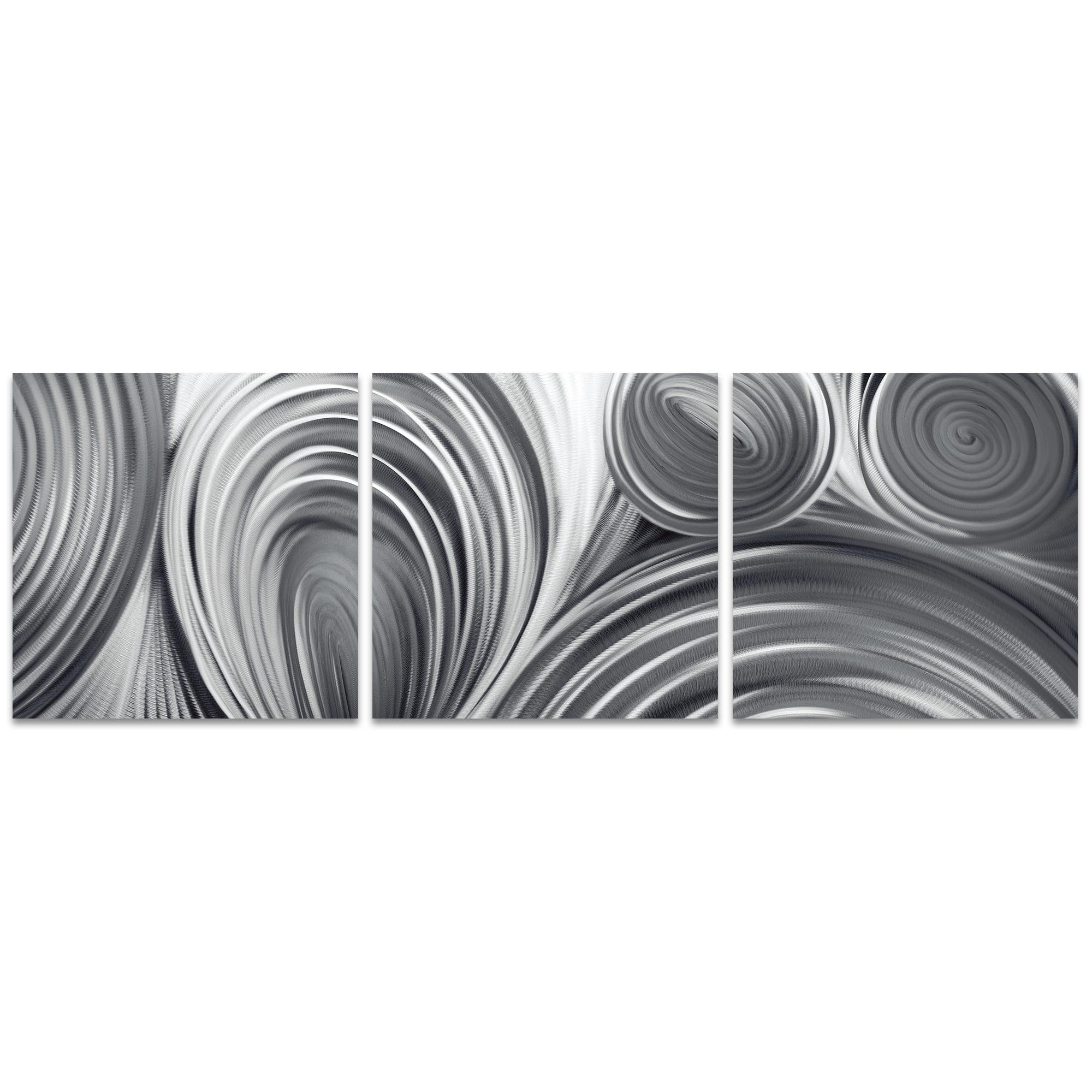 Conduction Triptych Large 70x22in. Metal or Acrylic Contemporary Decor