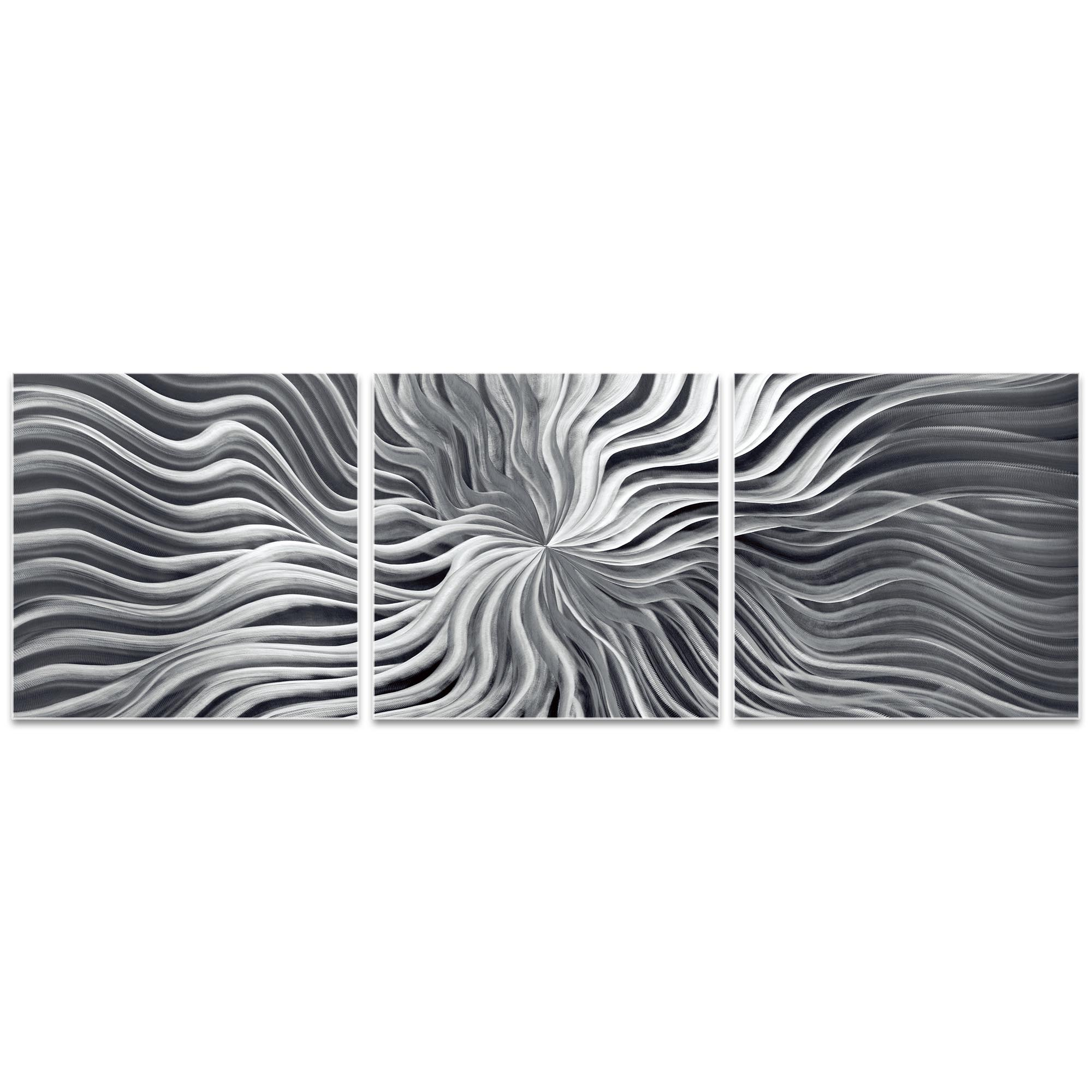 Flexure Triptych 38x12in. Metal or Acrylic Contemporary Decor - Image 2