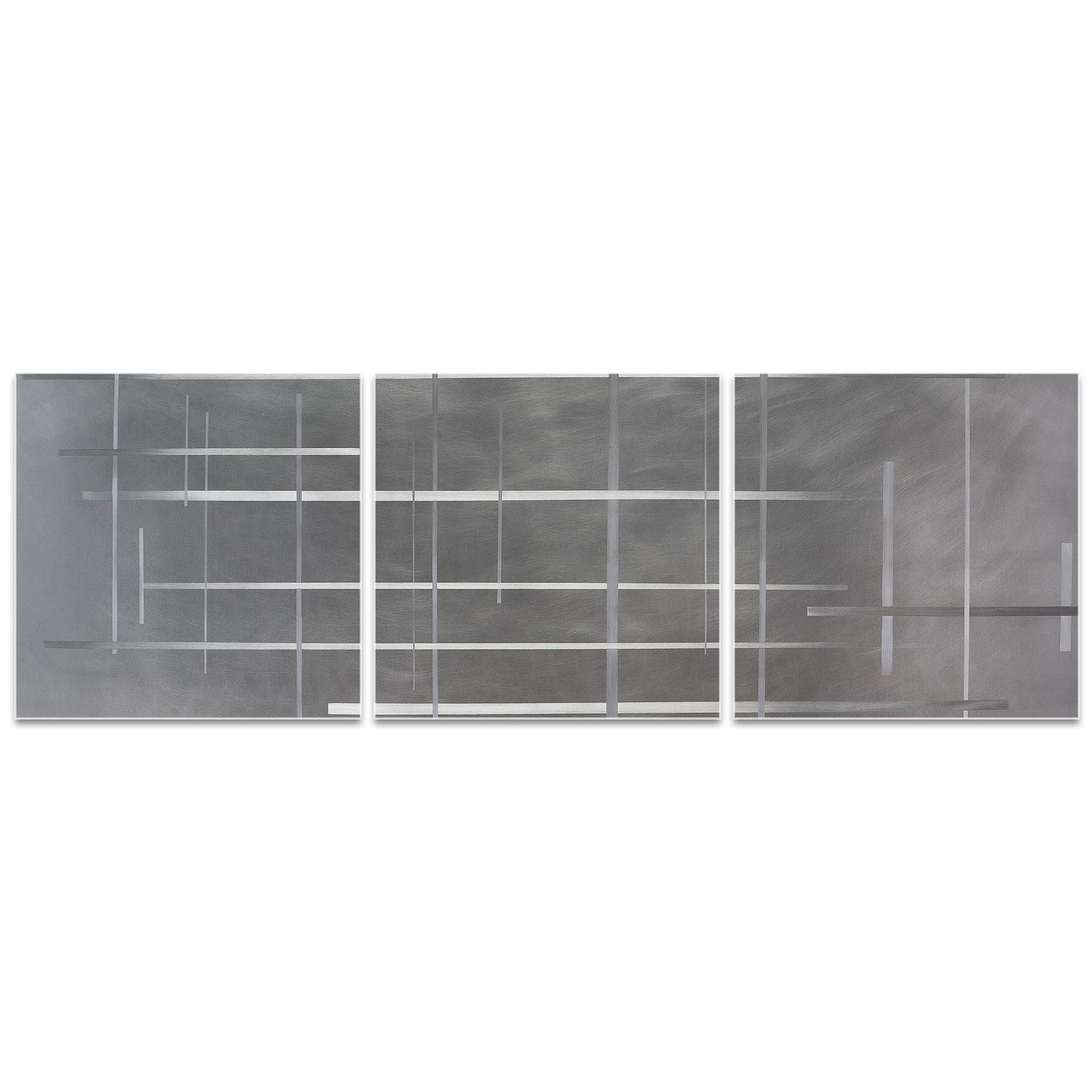 Lattice Triptych 38x12in. Metal or Acrylic Minimalistic Decor - Image 2