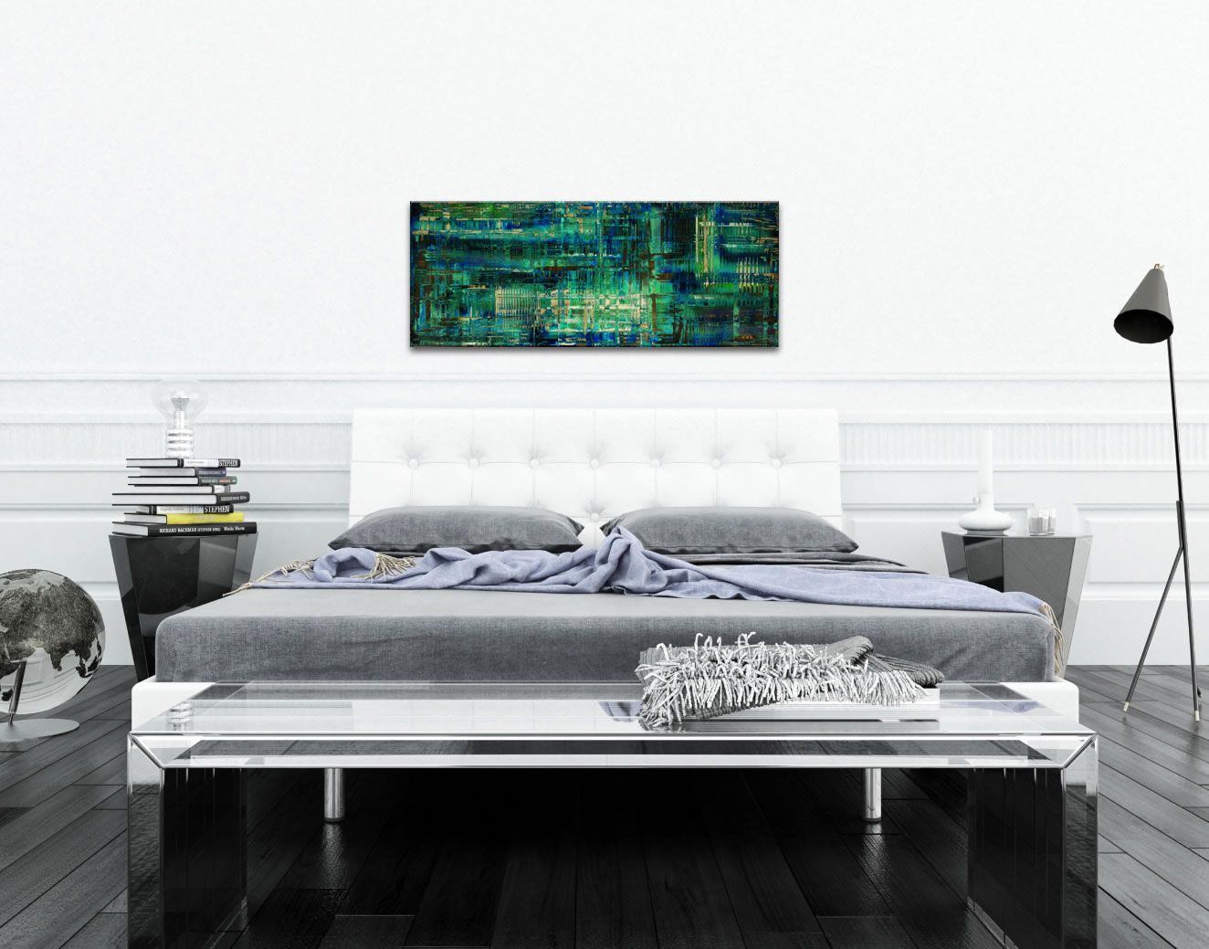 Aporia Blue - Contemporary Metal Wall Art - Lifestyle Image