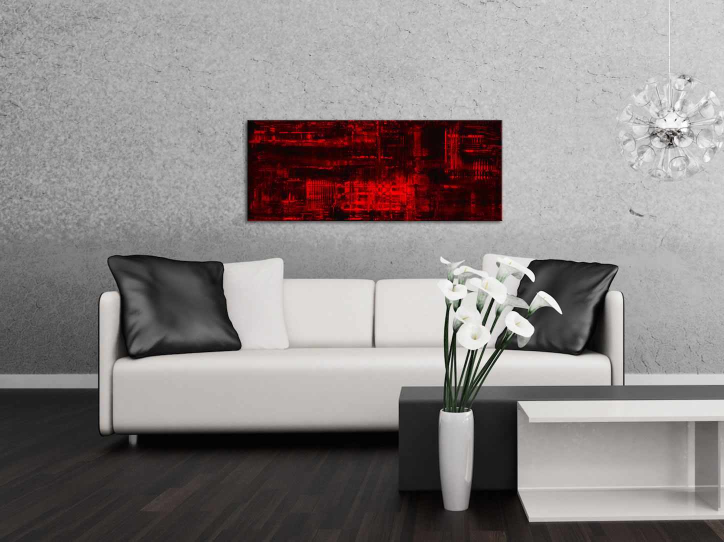 Aporia Red - Contemporary Metal Wall Art - Lifestyle Image