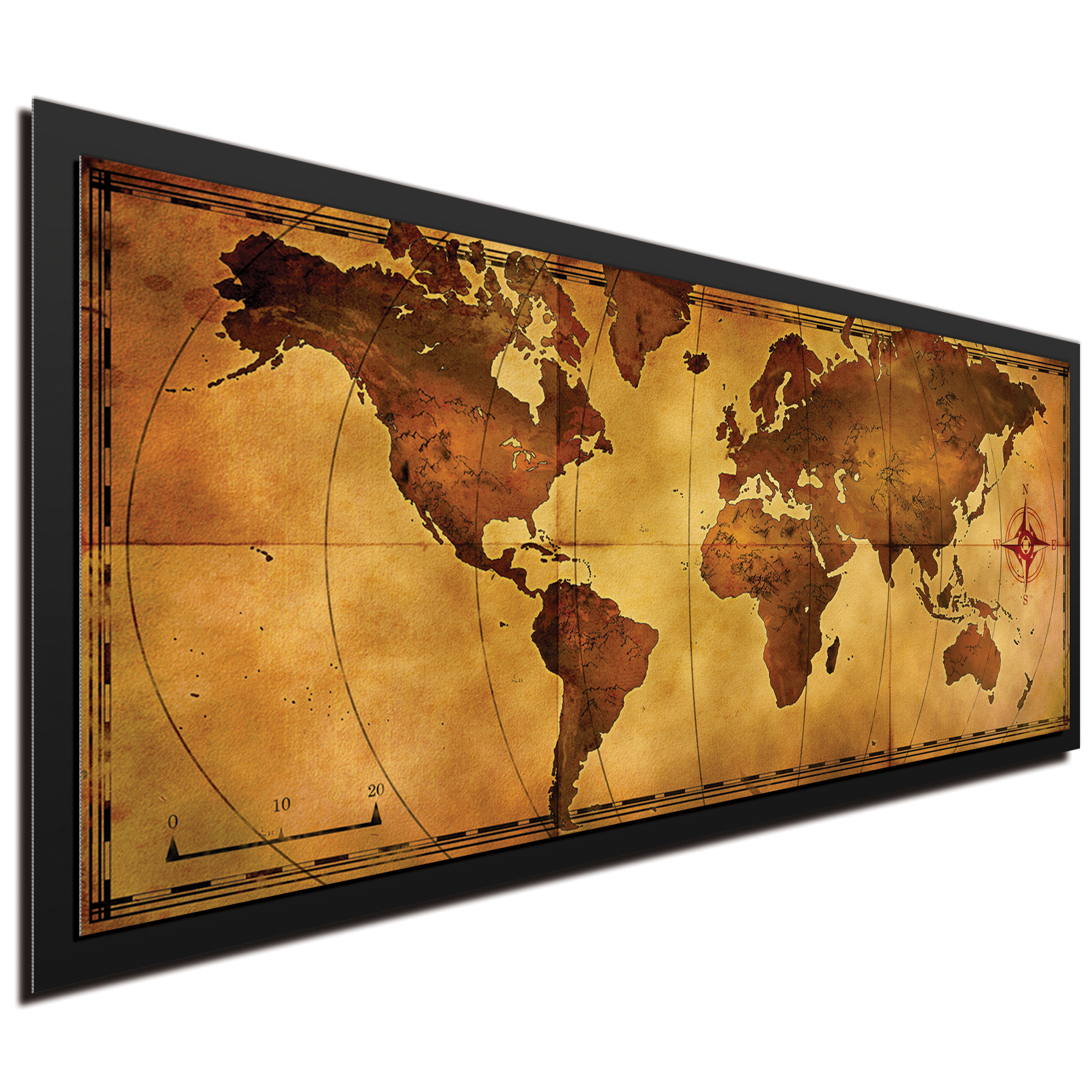 Old World Map Framed - Image 2