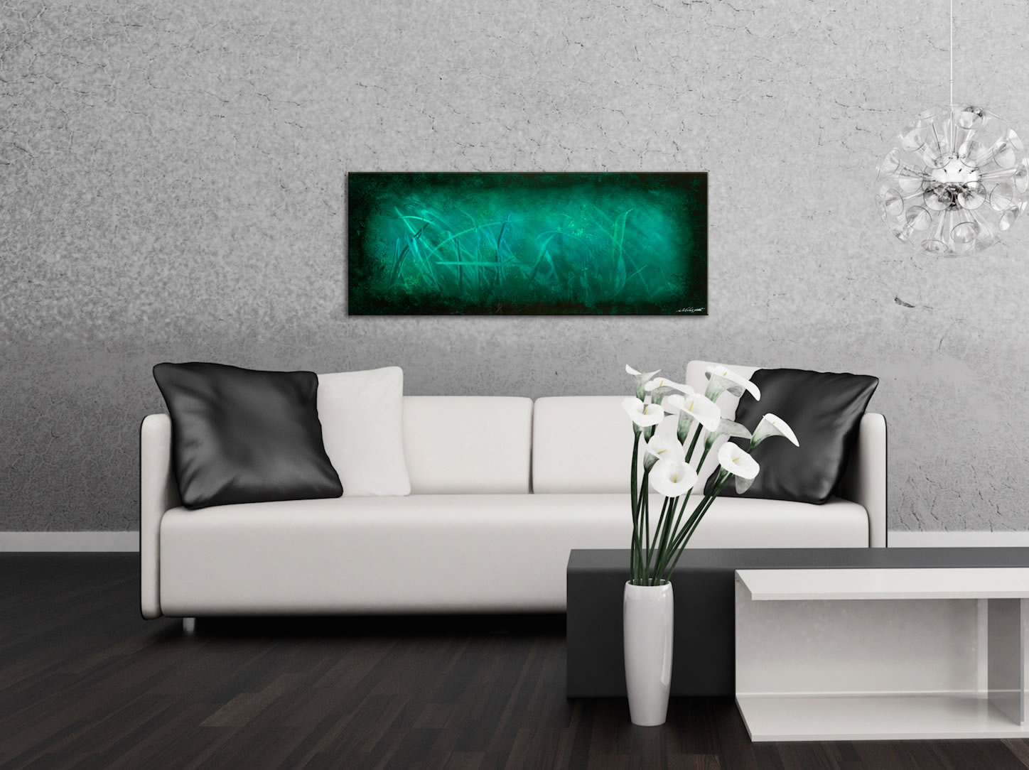 Ocean Mist - Contemporary Metal Wall Art - Lifestyle Image