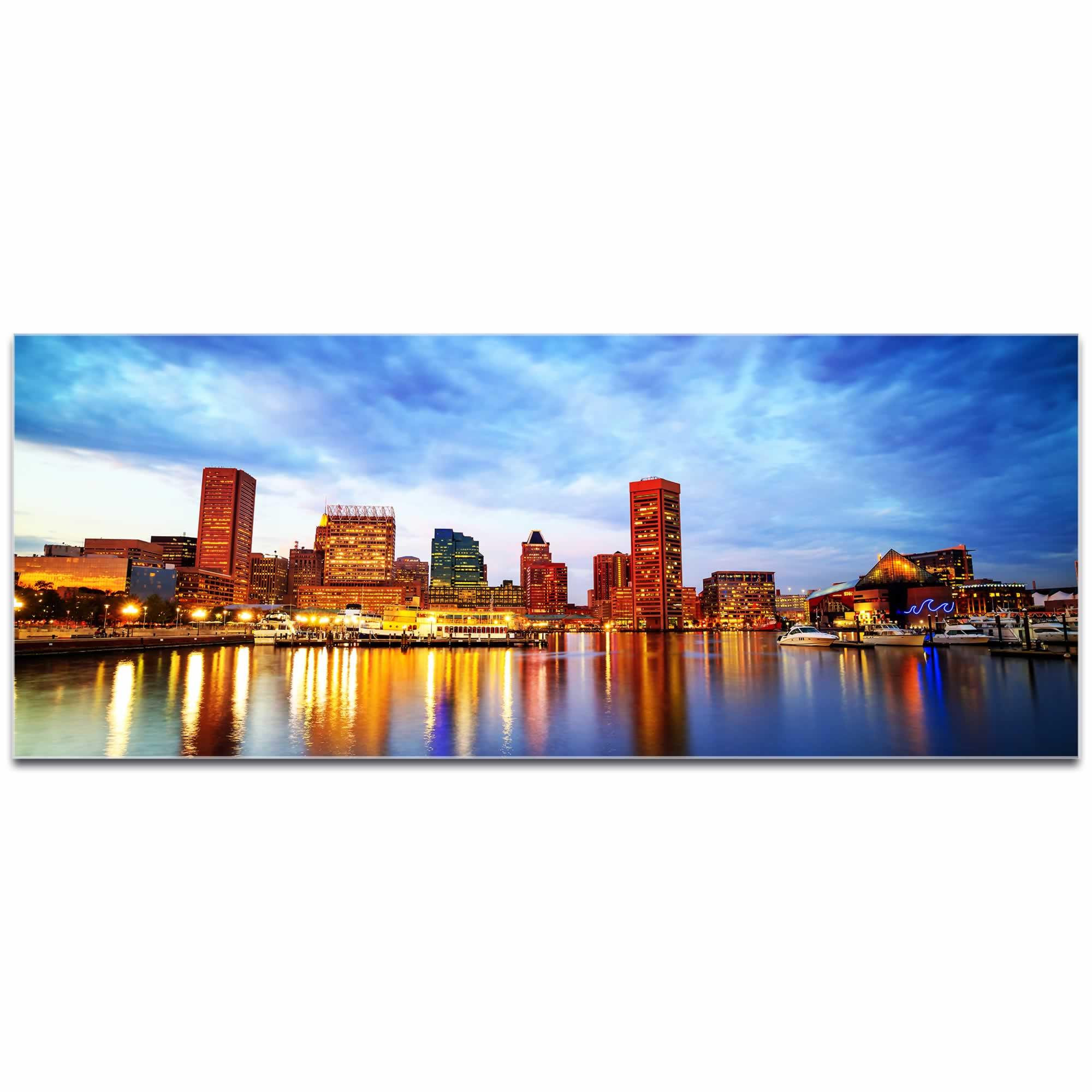 Baltimore City Skyline - Urban Modern Art, Designer Home Decor, Cityscape Wall Artwork, Trendy Contemporary Art