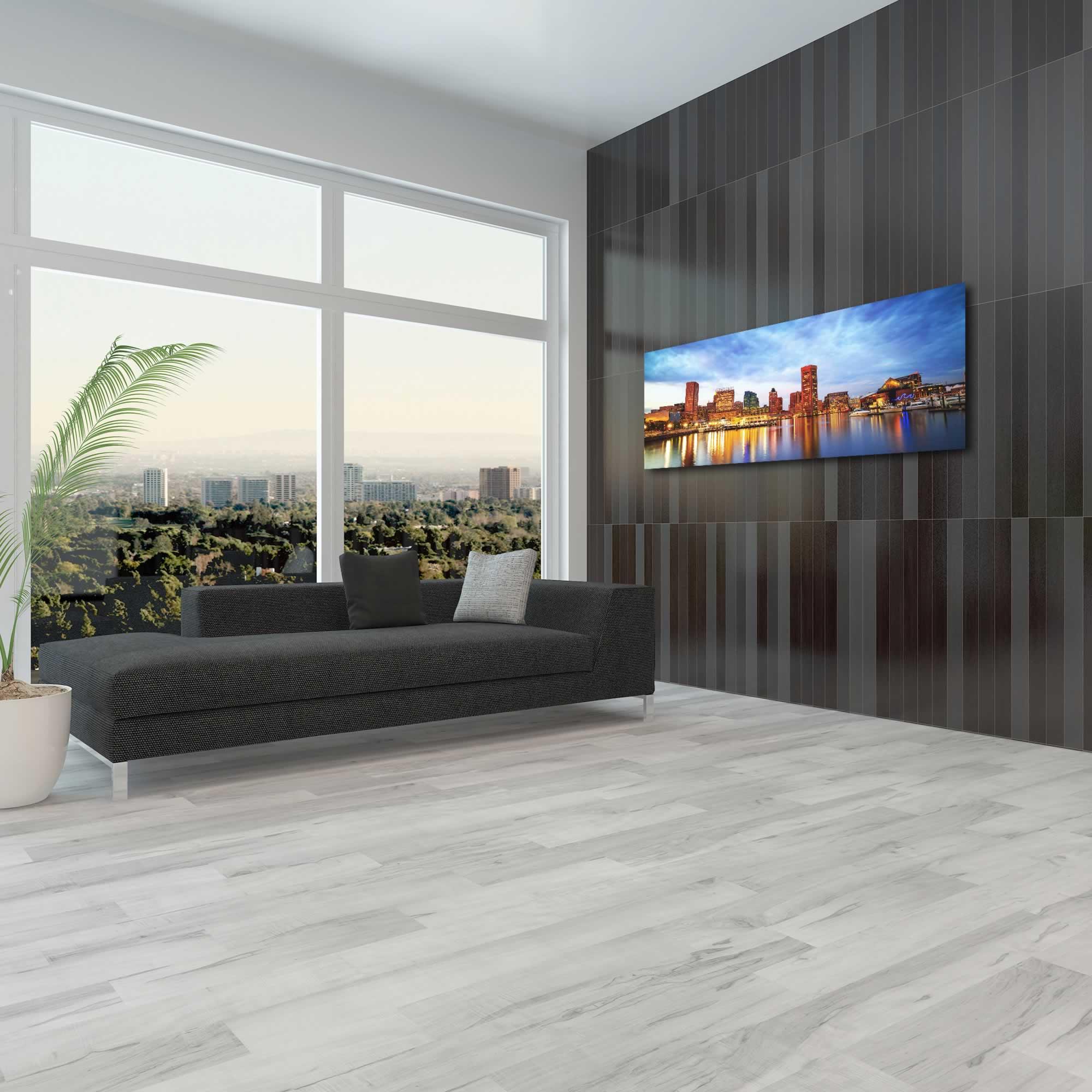 Baltimore City Skyline - Urban Modern Art, Designer Home Decor, Cityscape Wall Artwork, Trendy Contemporary Art - Alternate View 3