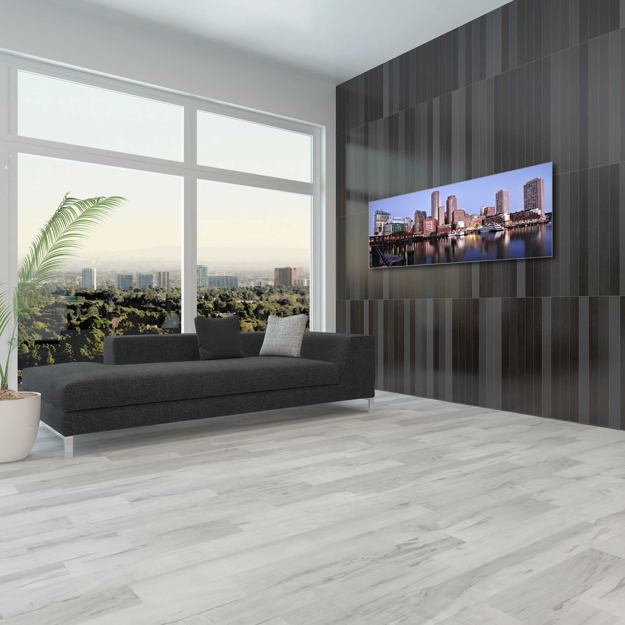 Boston City Skyline - Urban Modern Art, Designer Home Decor, Cityscape Wall Artwork, Trendy Contemporary Art - Alternate View 1