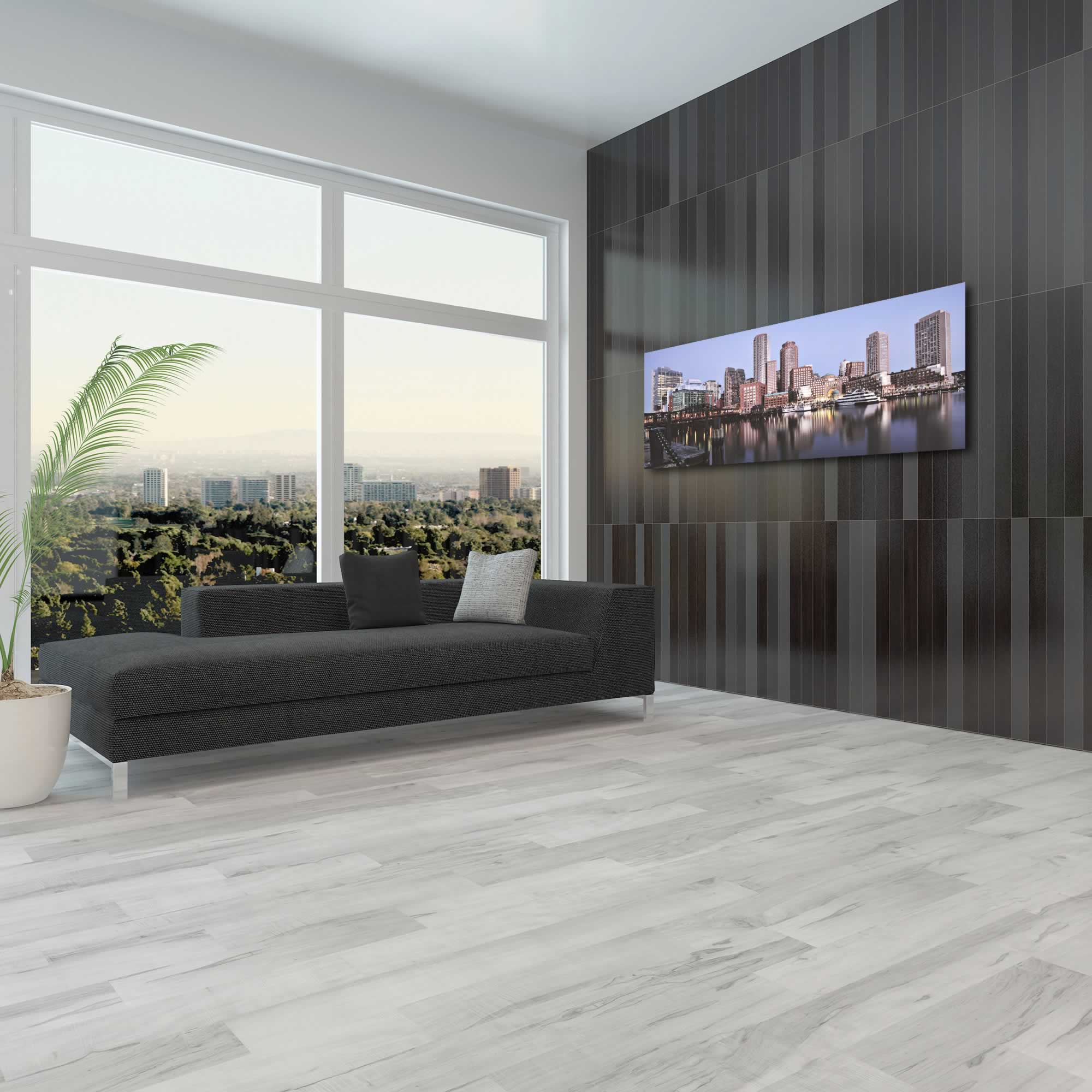 Boston City Skyline - Urban Modern Art, Designer Home Decor, Cityscape Wall Artwork, Trendy Contemporary Art - Alternate View 3