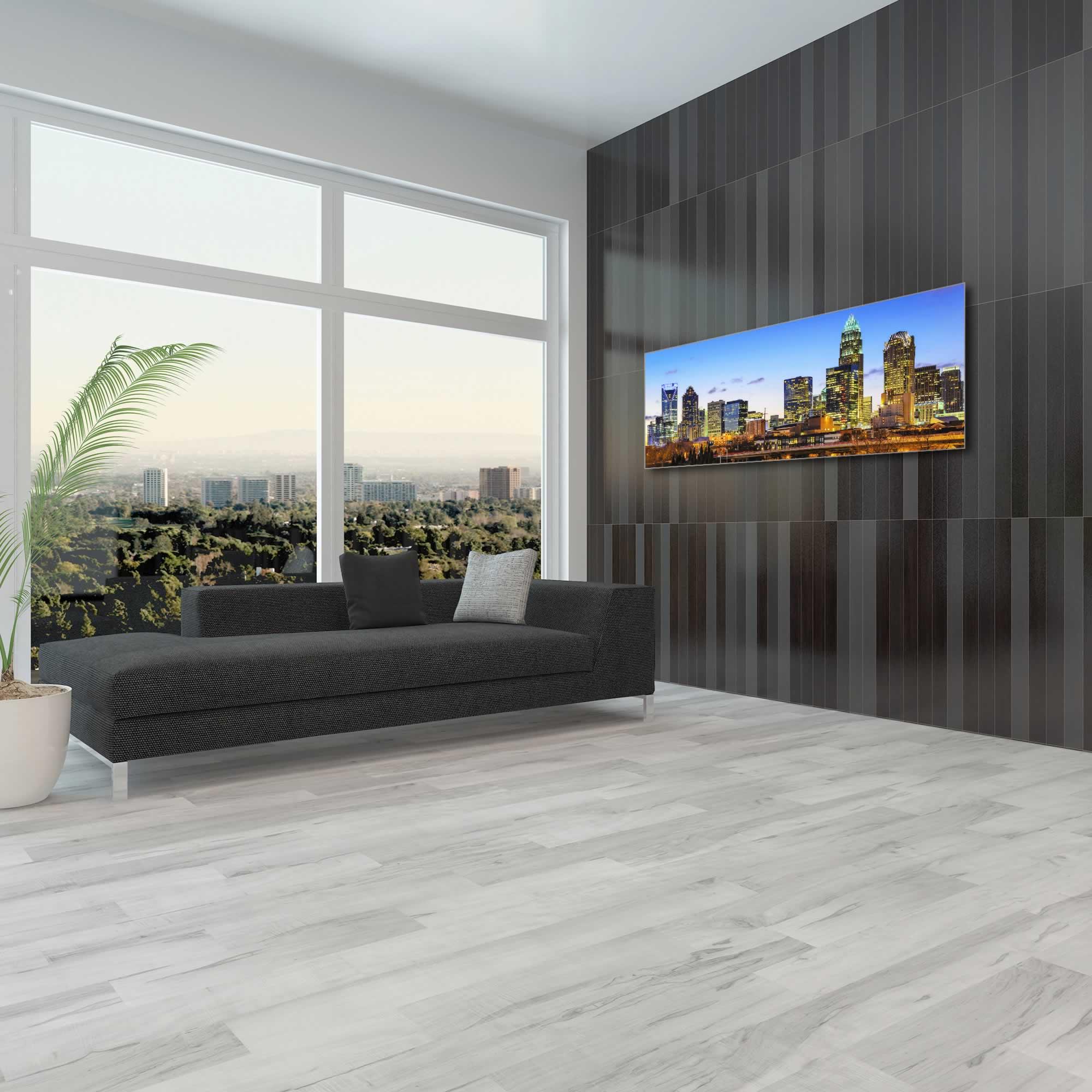 Charlotte City Skyline - Urban Modern Art, Designer Home Decor, Cityscape Wall Artwork, Trendy Contemporary Art - Alternate View 1