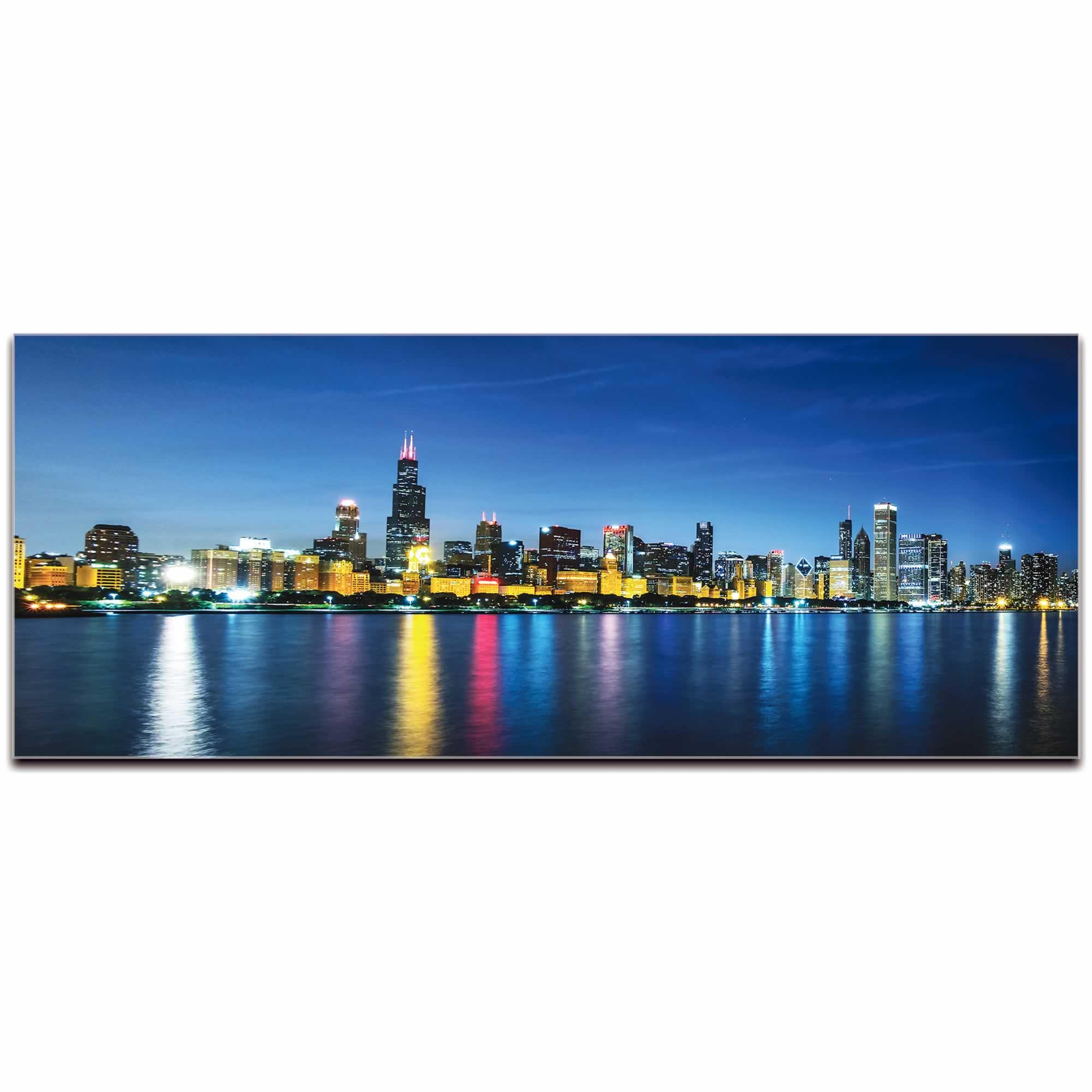 Chicago City Skyline - Urban Modern Art, Designer Home Decor, Cityscape Wall Artwork, Trendy Contemporary Art