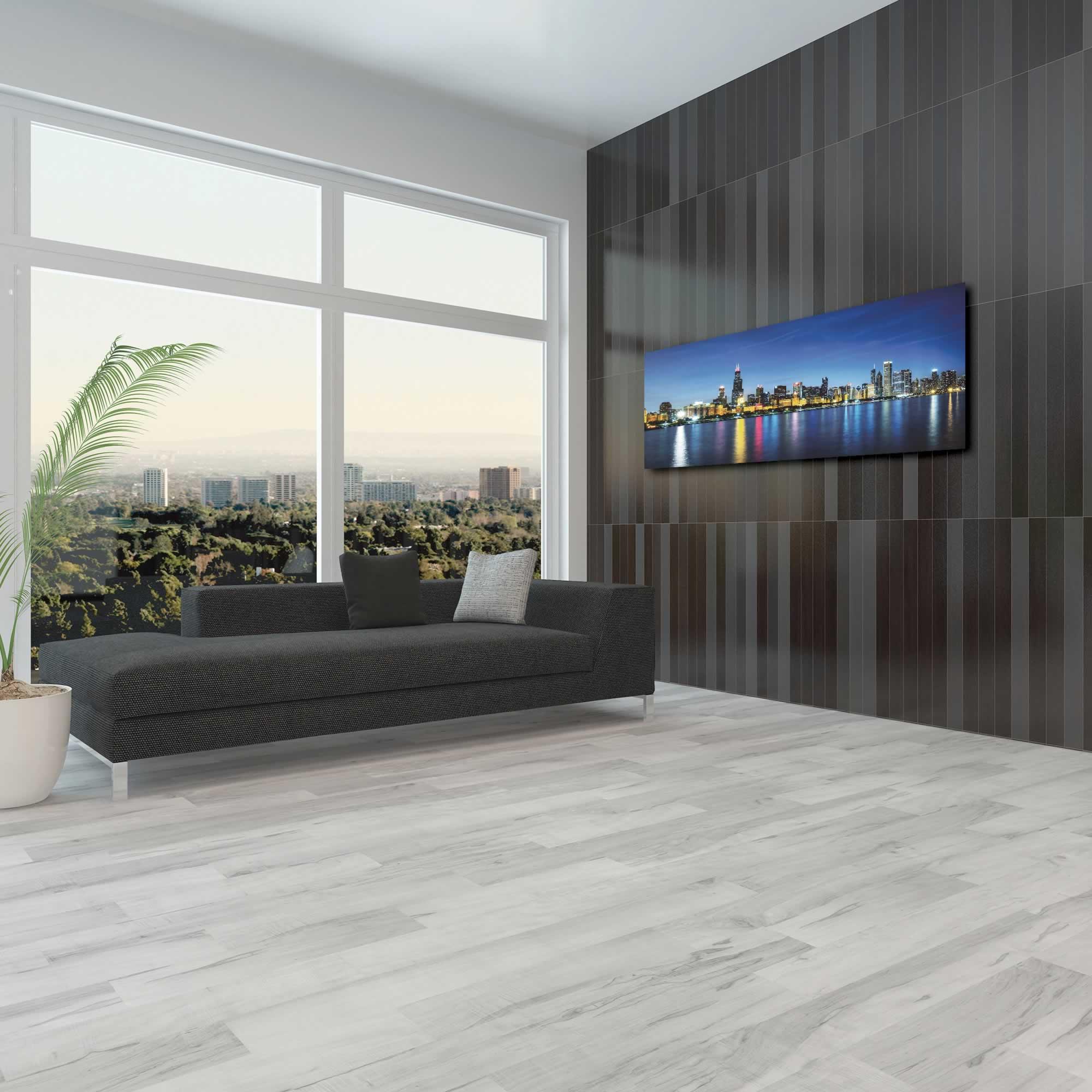 Chicago City Skyline - Urban Modern Art, Designer Home Decor, Cityscape Wall Artwork, Trendy Contemporary Art - Alternate View 3