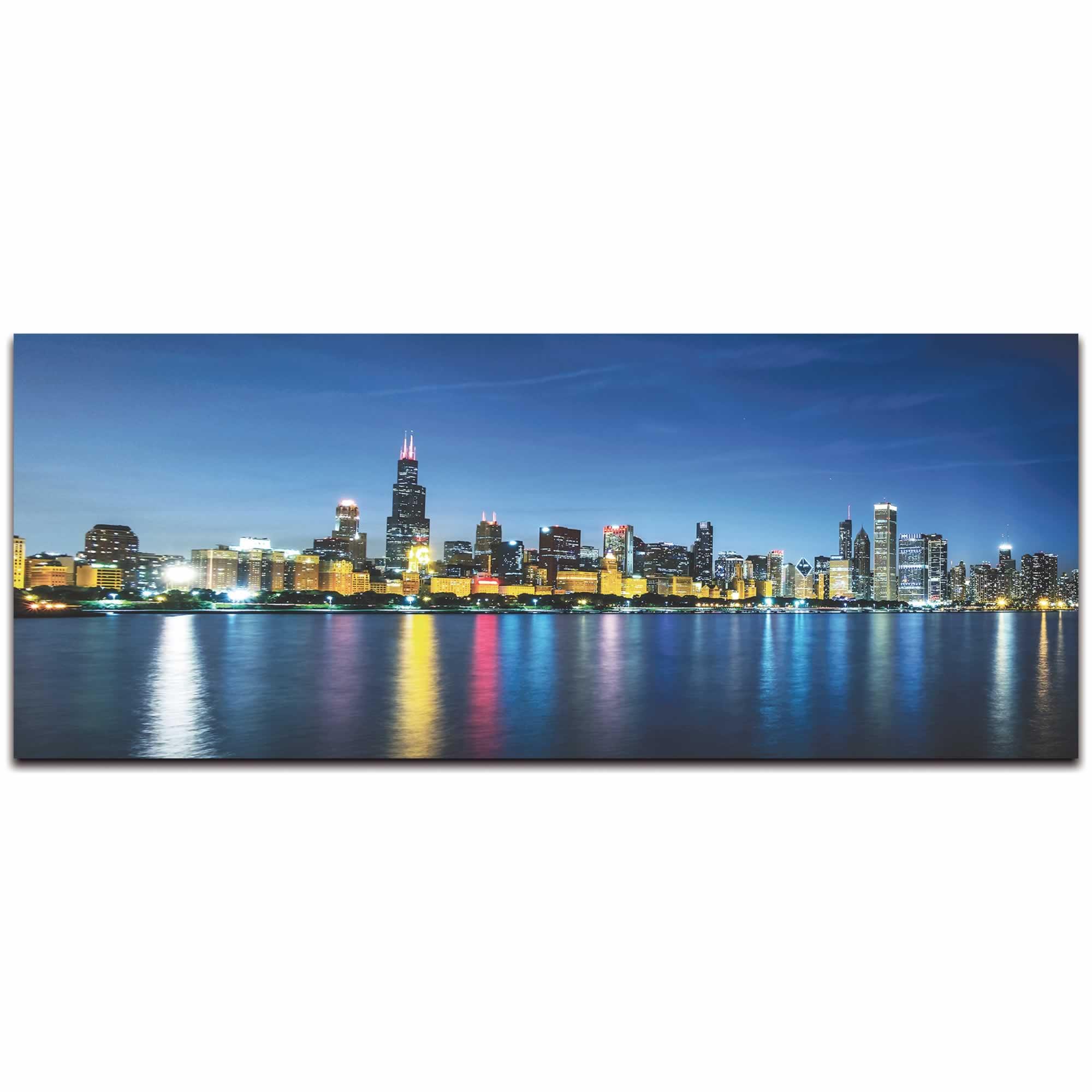 Chicago City Skyline - Urban Modern Art, Designer Home Decor, Cityscape Wall Artwork, Trendy Contemporary Art - Alternate View 2