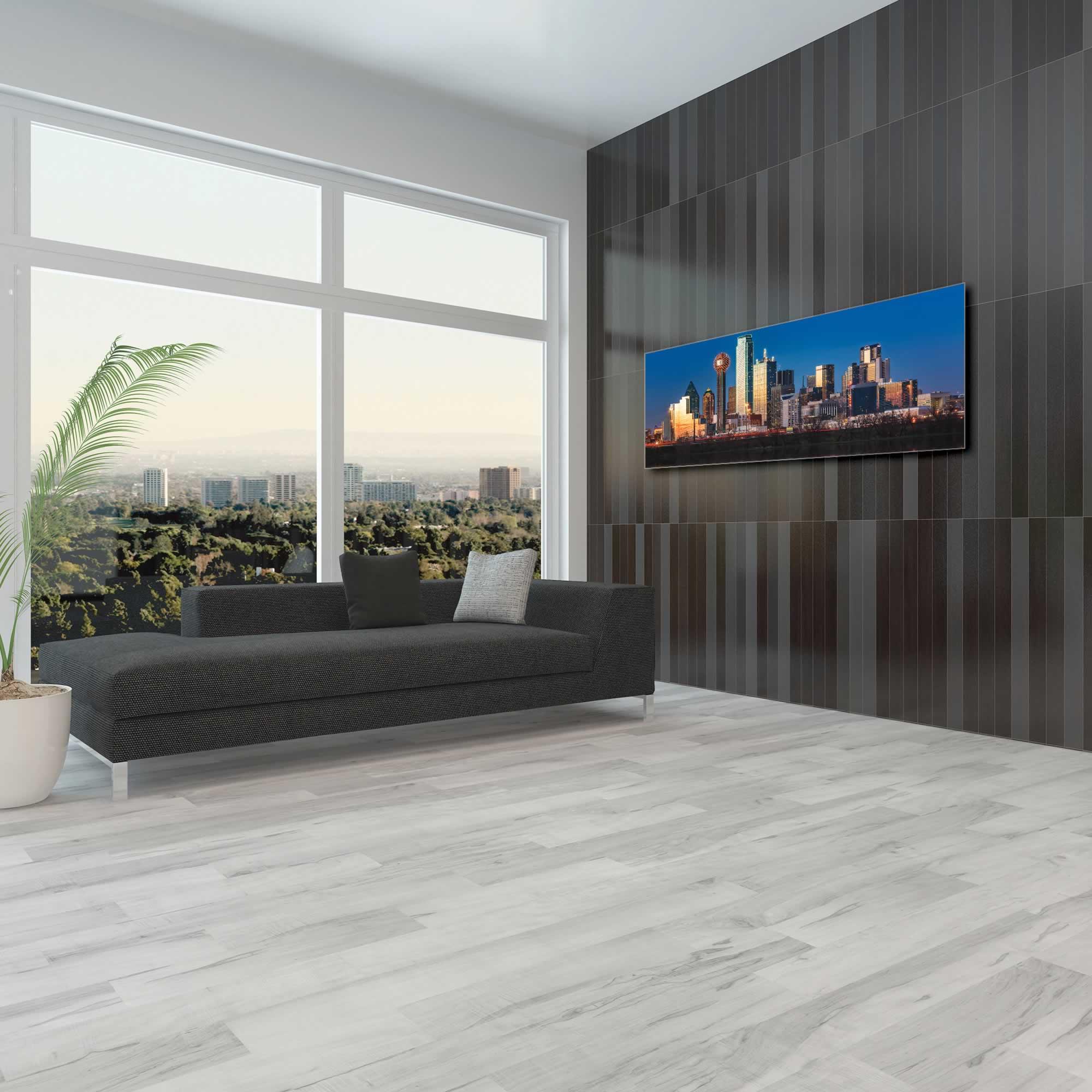 Dallas City Skyline - Urban Modern Art, Designer Home Decor, Cityscape Wall Artwork, Trendy Contemporary Art - Alternate View 1