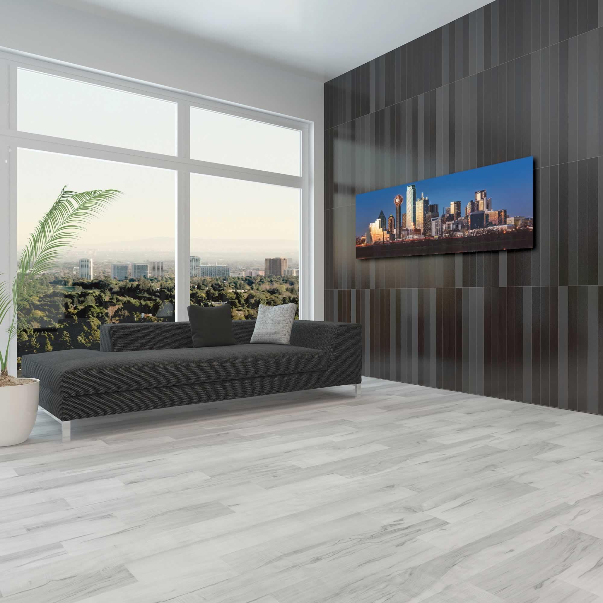 Dallas City Skyline - Urban Modern Art, Designer Home Decor, Cityscape Wall Artwork, Trendy Contemporary Art - Alternate View 3