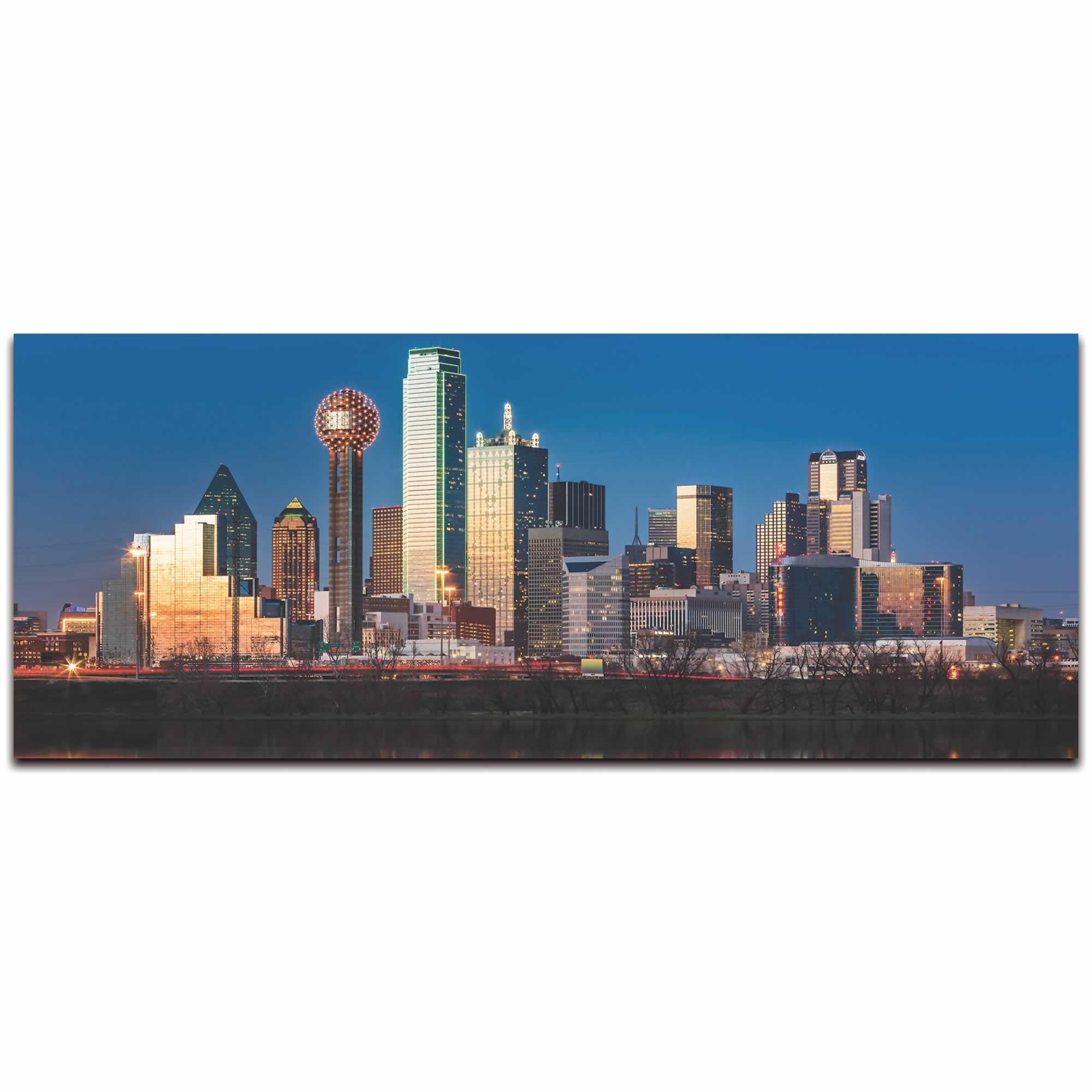 Dallas City Skyline - Urban Modern Art, Designer Home Decor, Cityscape Wall Artwork, Trendy Contemporary Art - Alternate View 2