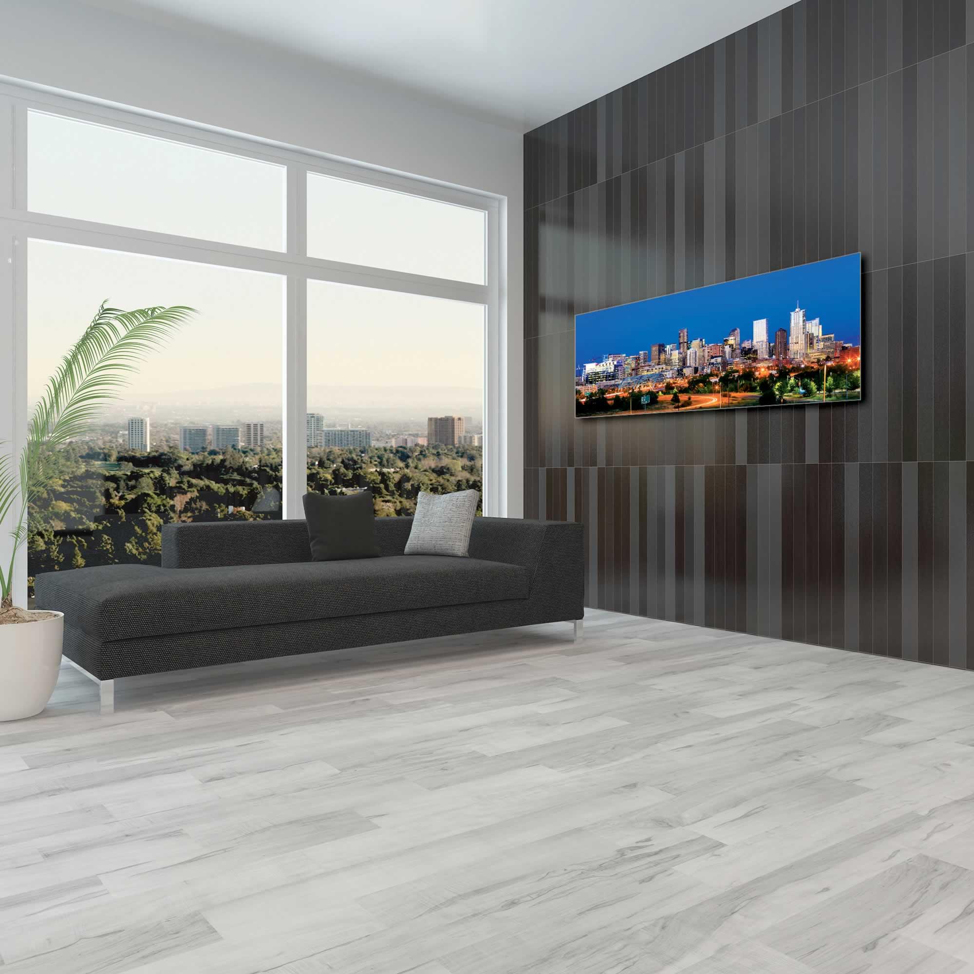 Denver City Skyline - Urban Modern Art, Designer Home Decor, Cityscape Wall Artwork, Trendy Contemporary Art - Alternate View 1