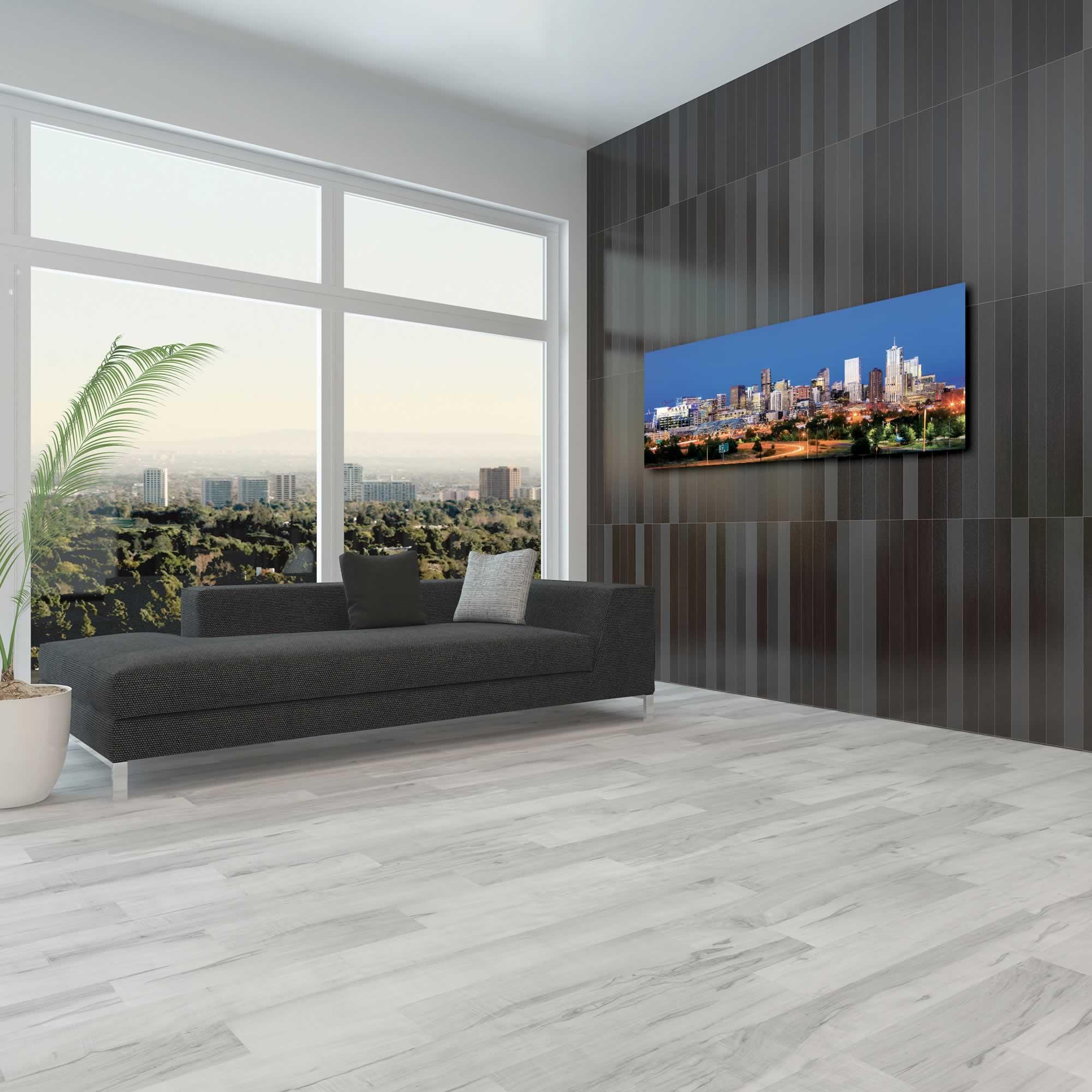 Denver City Skyline - Urban Modern Art, Designer Home Decor, Cityscape Wall Artwork, Trendy Contemporary Art - Alternate View 3