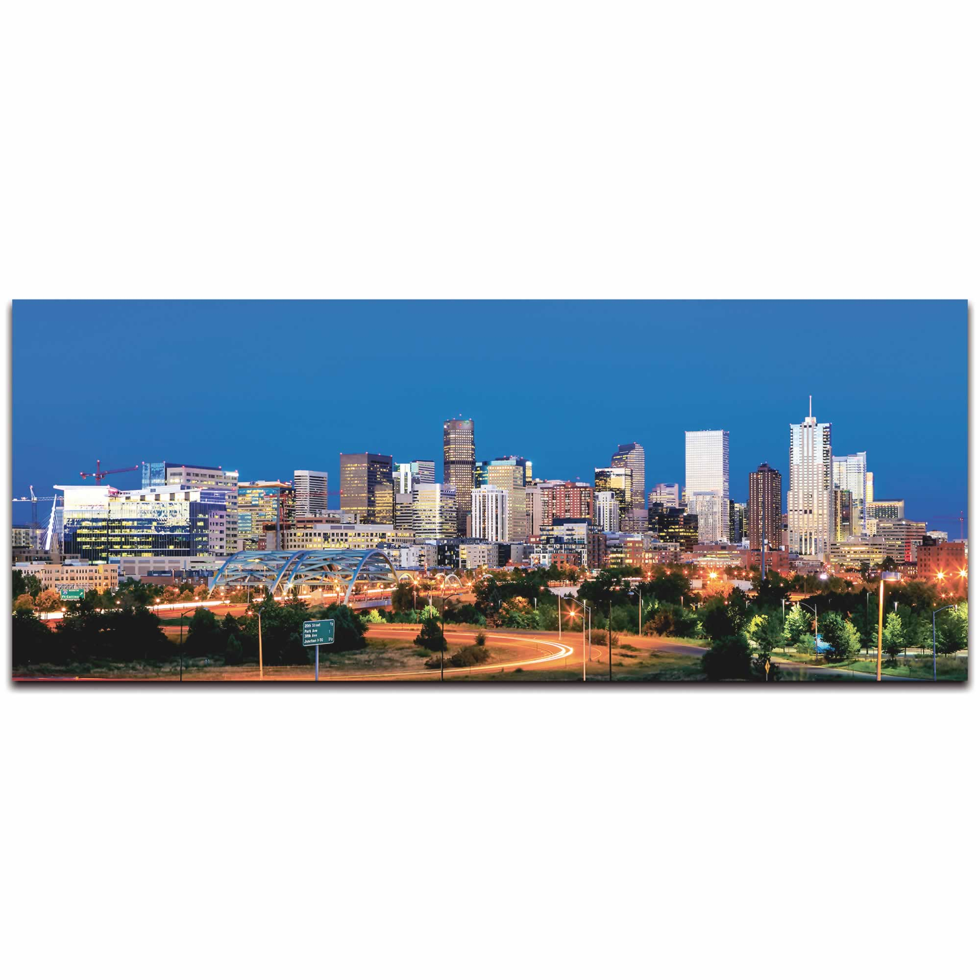 Denver City Skyline - Urban Modern Art, Designer Home Decor, Cityscape Wall Artwork, Trendy Contemporary Art - Alternate View 2