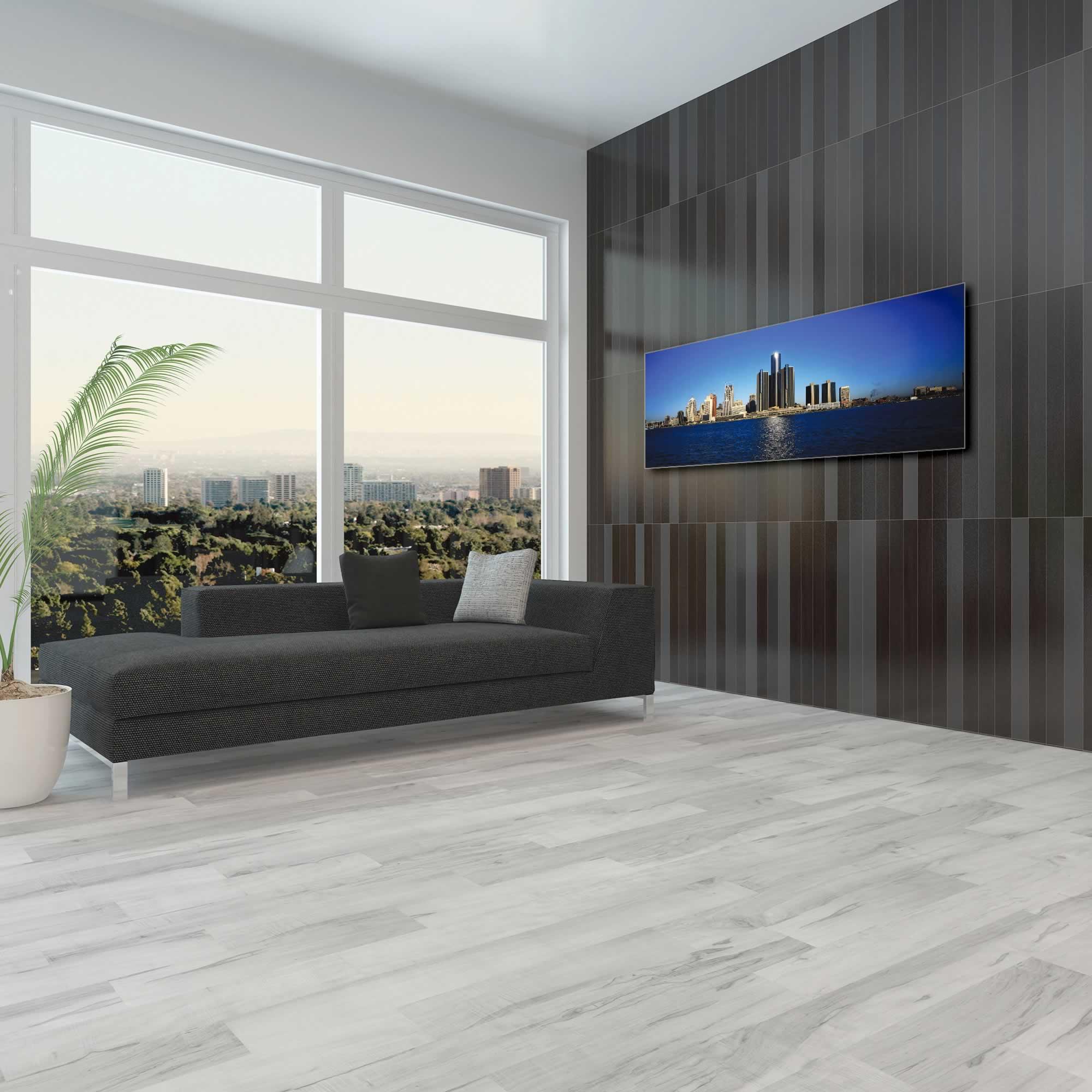 Detroit City Skyline - Urban Modern Art, Designer Home Decor, Cityscape Wall Artwork, Trendy Contemporary Art - Alternate View 1