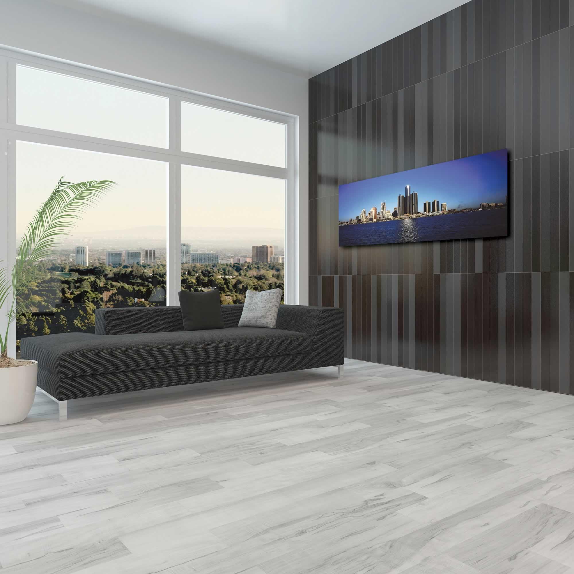Detroit City Skyline - Urban Modern Art, Designer Home Decor, Cityscape Wall Artwork, Trendy Contemporary Art - Alternate View 3