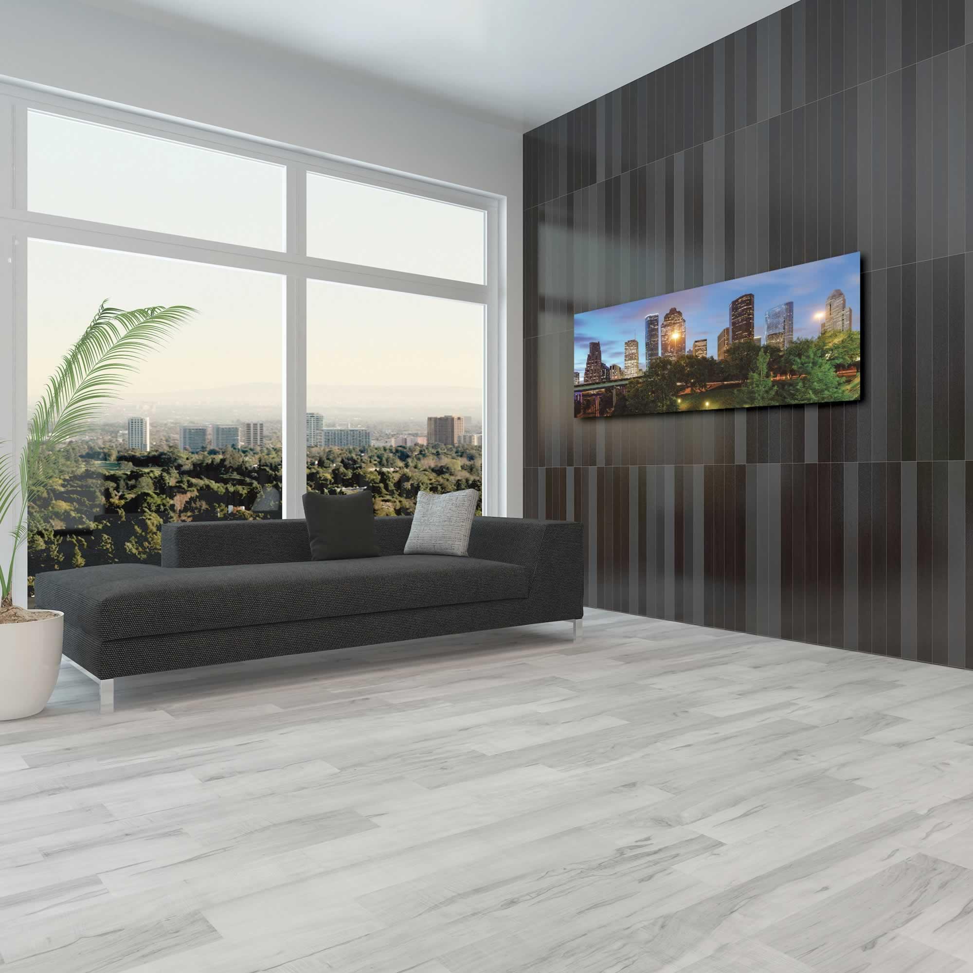 Houston City Skyline - Urban Modern Art, Designer Home Decor, Cityscape Wall Artwork, Trendy Contemporary Art - Alternate View 3