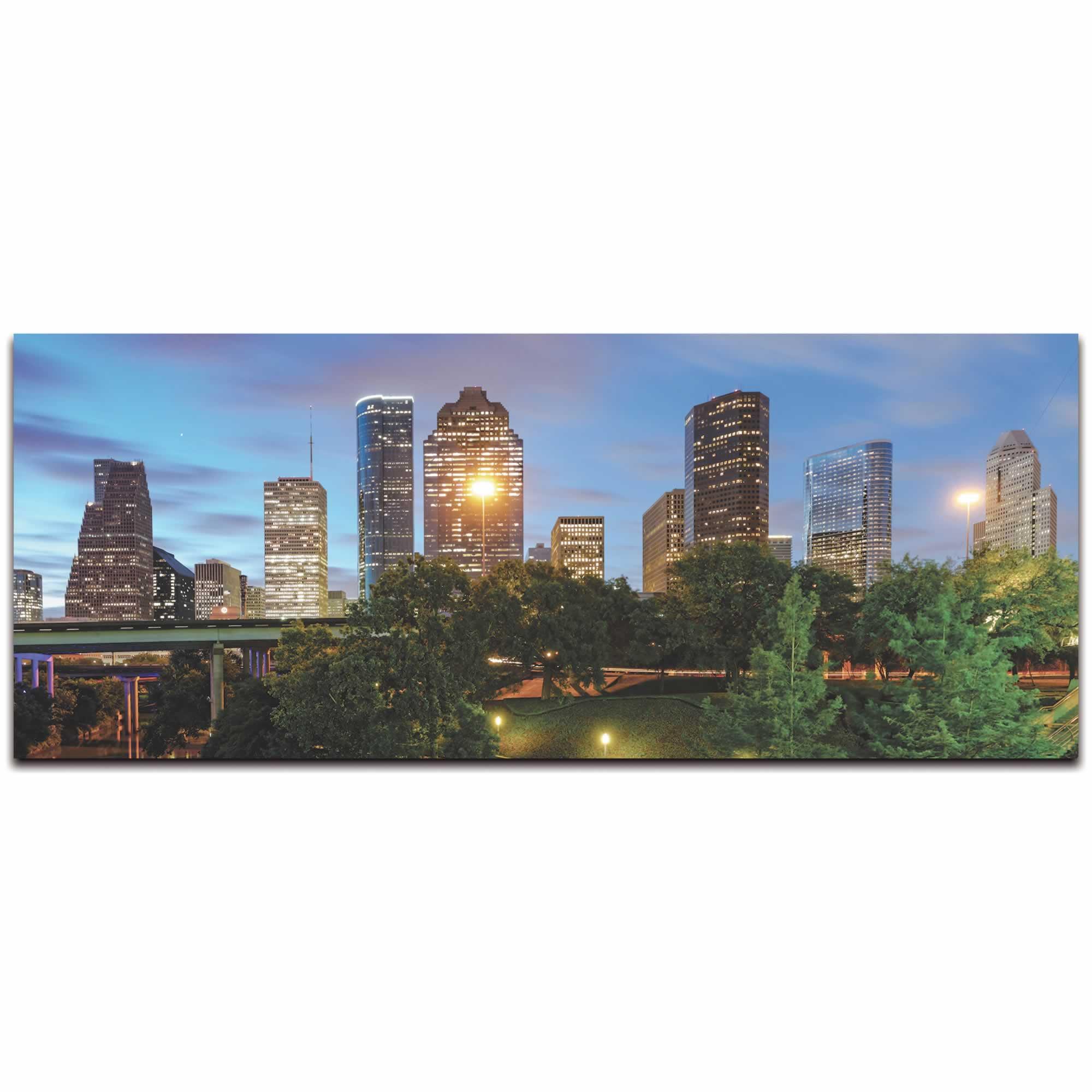 Houston City Skyline - Urban Modern Art, Designer Home Decor, Cityscape Wall Artwork, Trendy Contemporary Art - Alternate View 2
