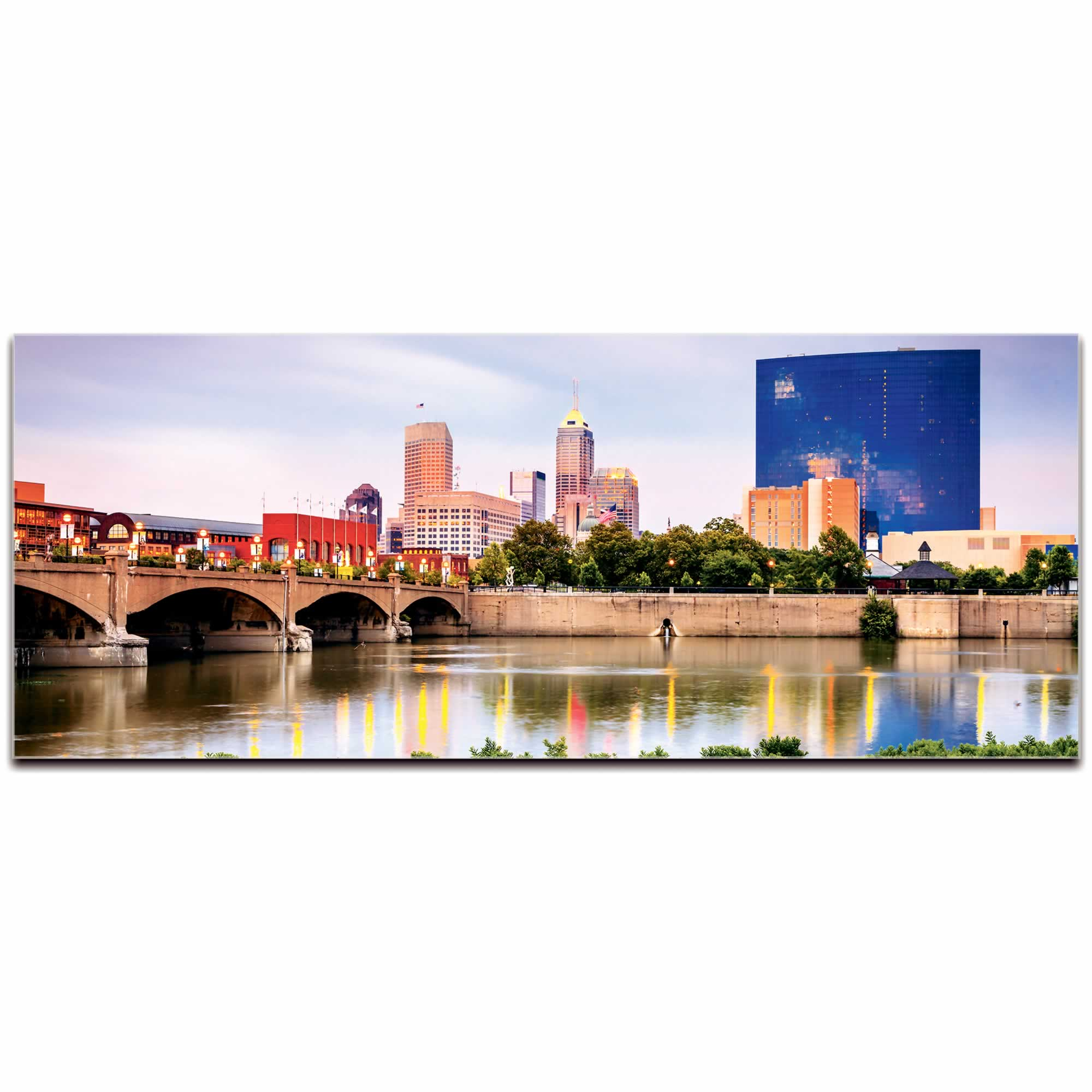 Indianapolis City Skyline - Urban Modern Art, Designer Home Decor, Cityscape Wall Artwork, Trendy Contemporary Art
