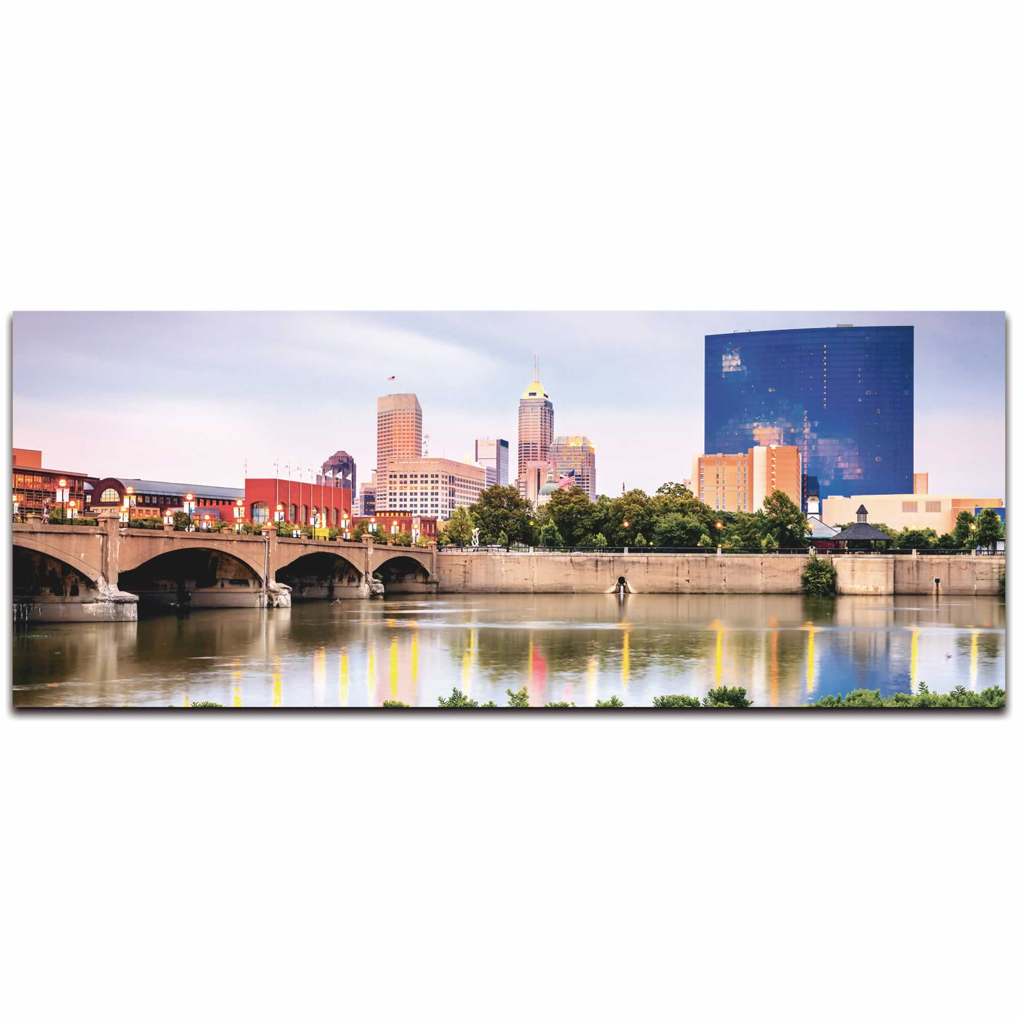 Indianapolis City Skyline - Urban Modern Art, Designer Home Decor, Cityscape Wall Artwork, Trendy Contemporary Art - Alternate View 2