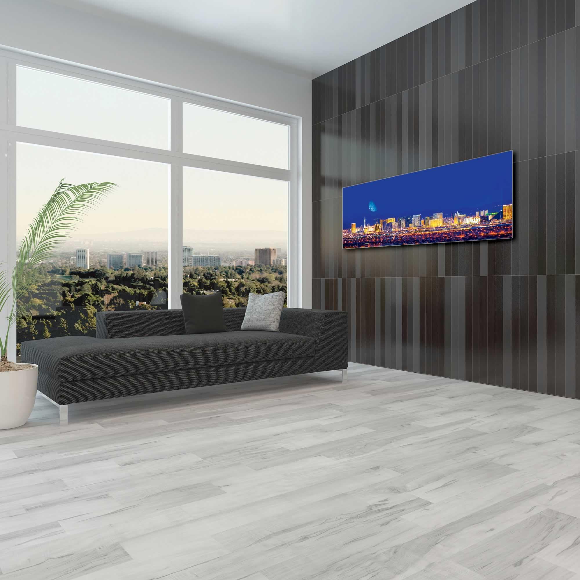 Las Vegas City Skyline - Urban Modern Art, Designer Home Decor, Cityscape Wall Artwork, Trendy Contemporary Art - Alternate View 1